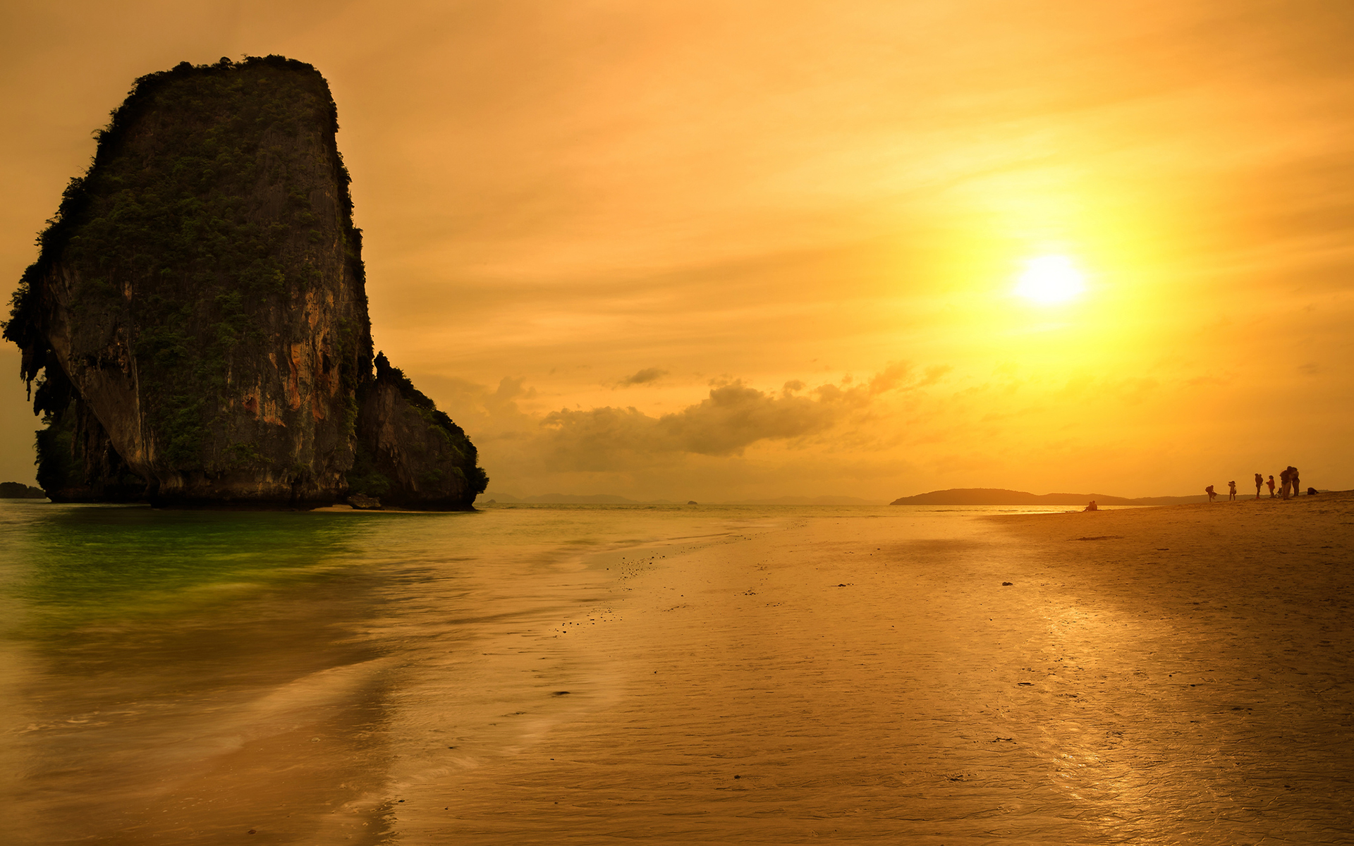 Sunset beach krabi thailand