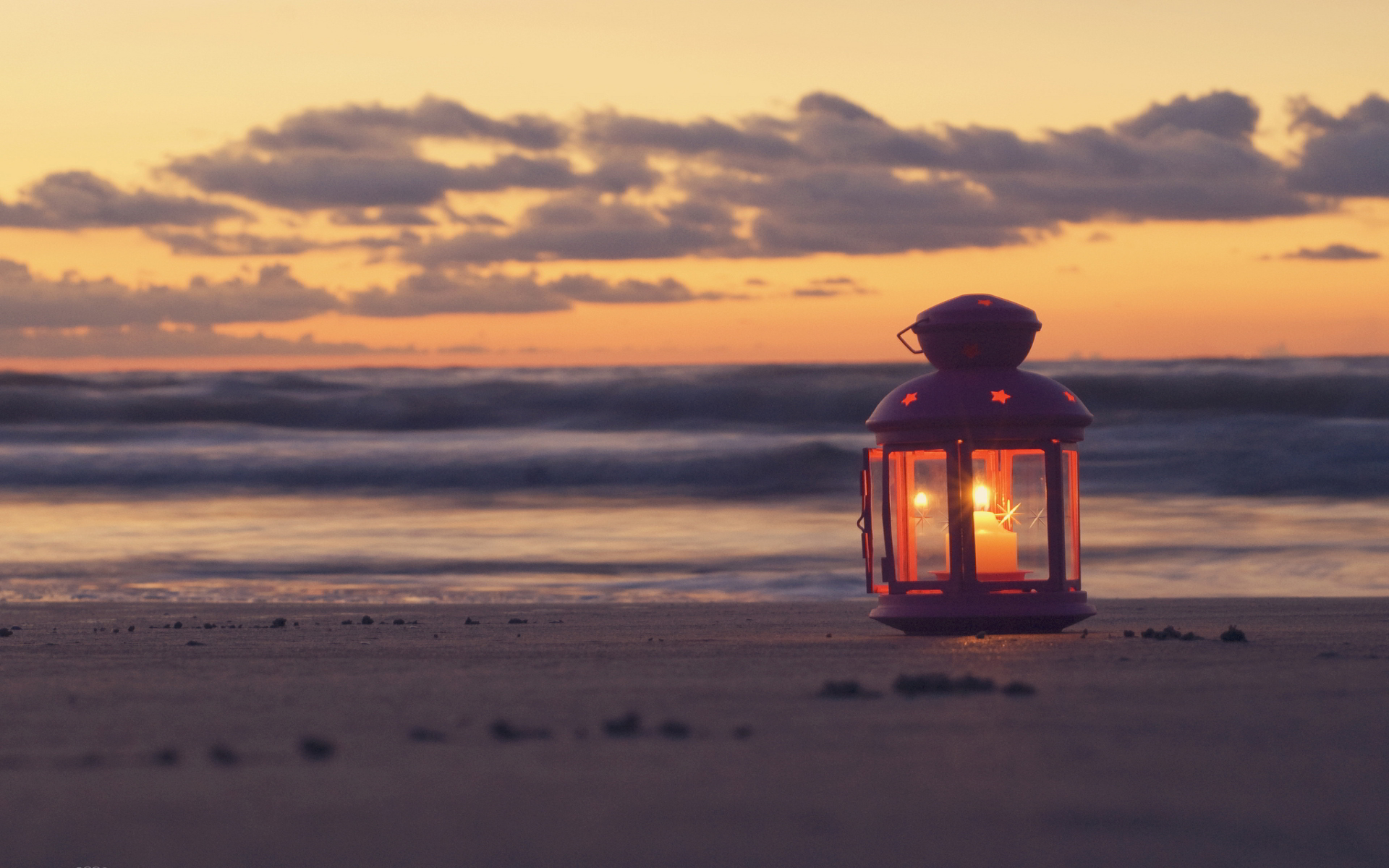 Sunset candle beach