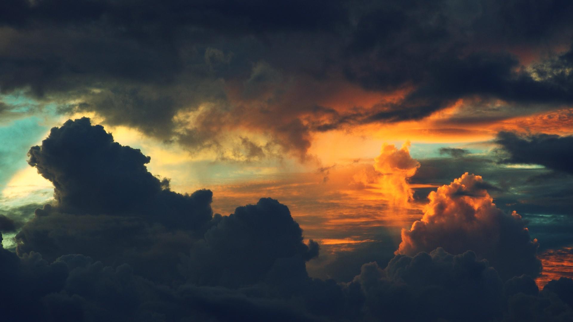 Dark sunset clouds HQ WALLPAPER - (#120546)