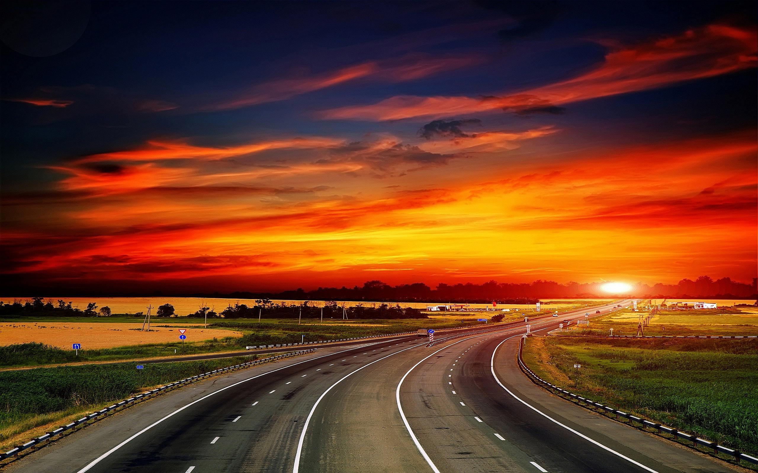 Sunset Highway Wallpaper 2560x1600 32108