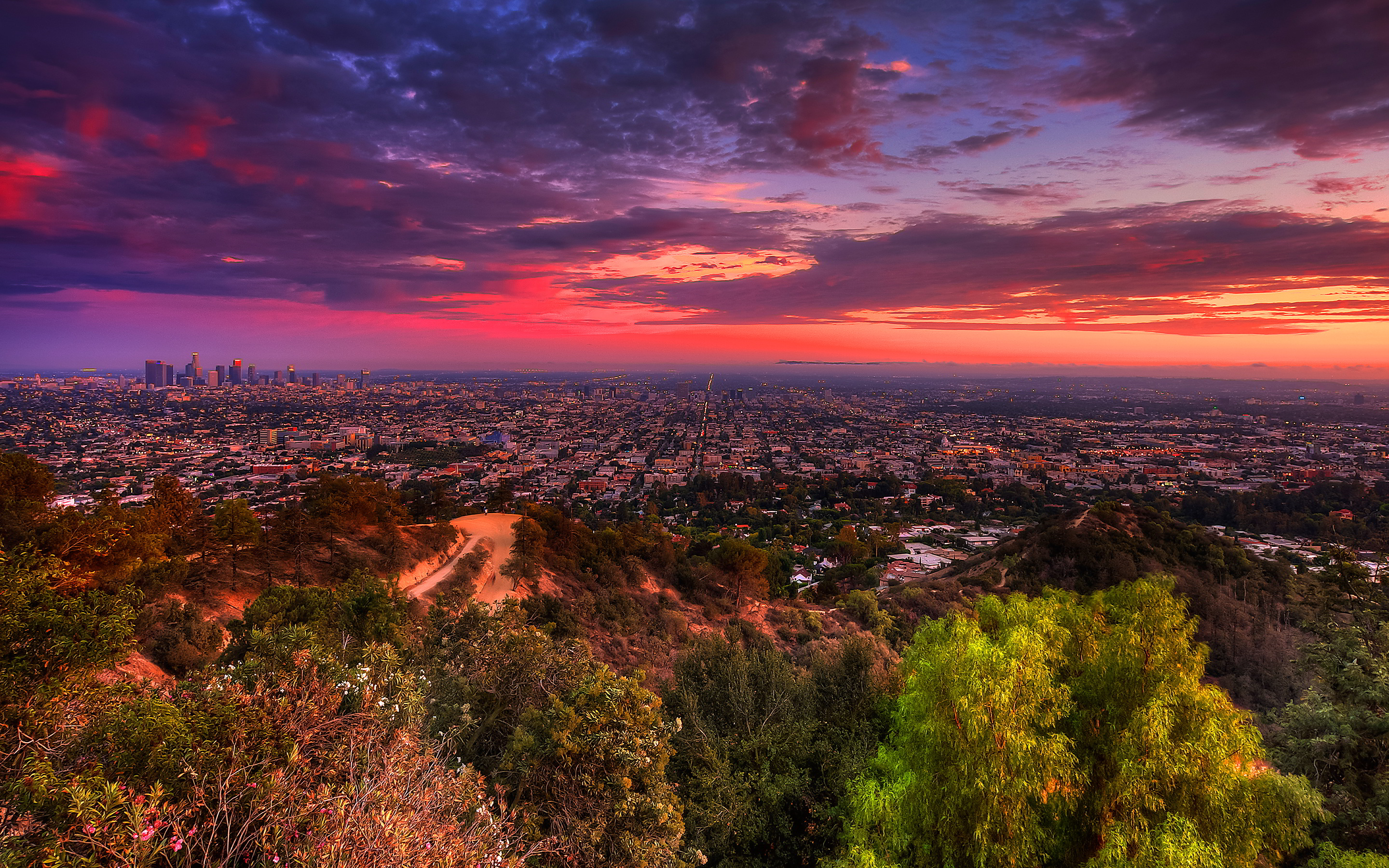 Sunset over la