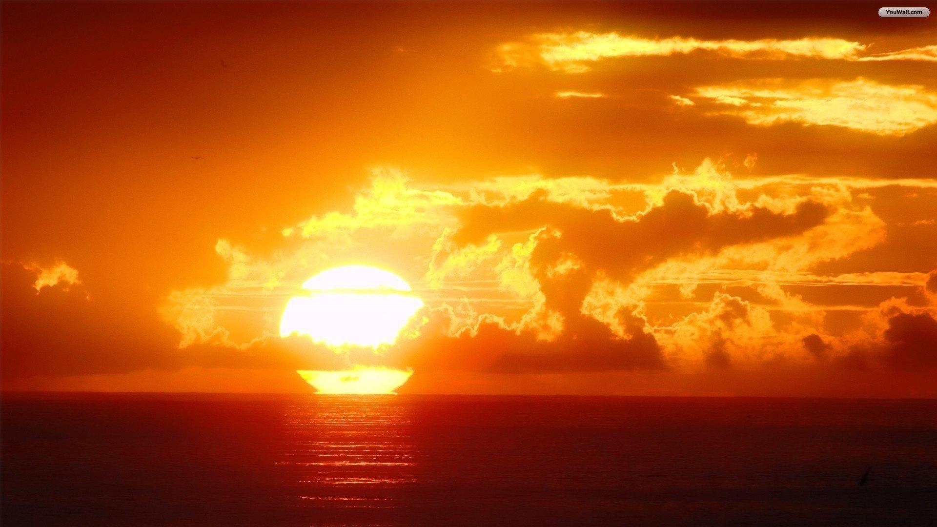 ... orange sunset wallpaper ...
