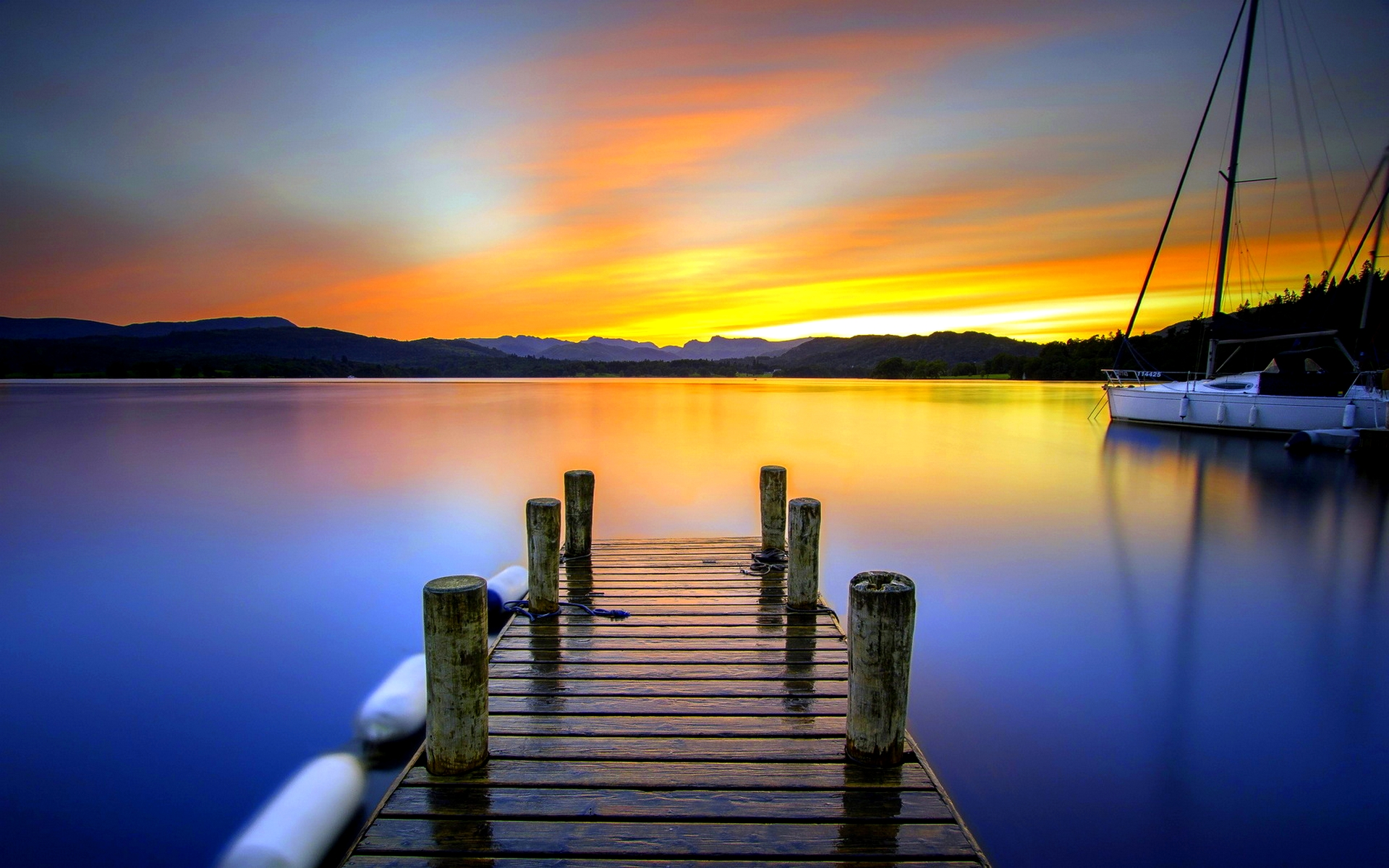 Pier At Sunset Hd Wallpapers