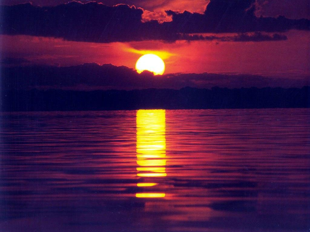 Sunset water reflection