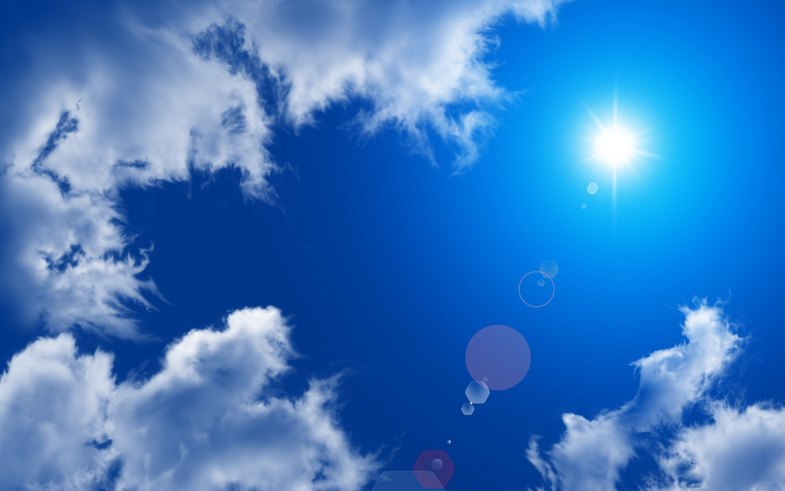 Sunshine Blue Sky Wallpaper 2560x1600 34686