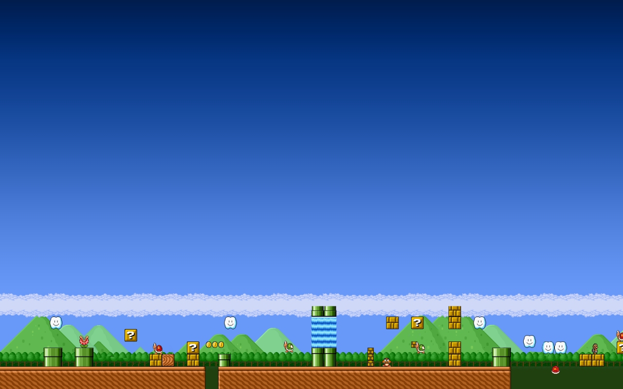 Super Mario Bros Res: 1280x800 / Size:248kb. Views: 24596