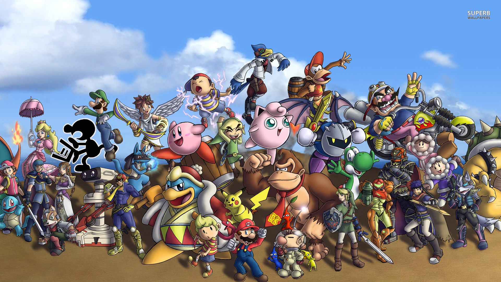 Super Smash Bros. wallpaper 1920x1080