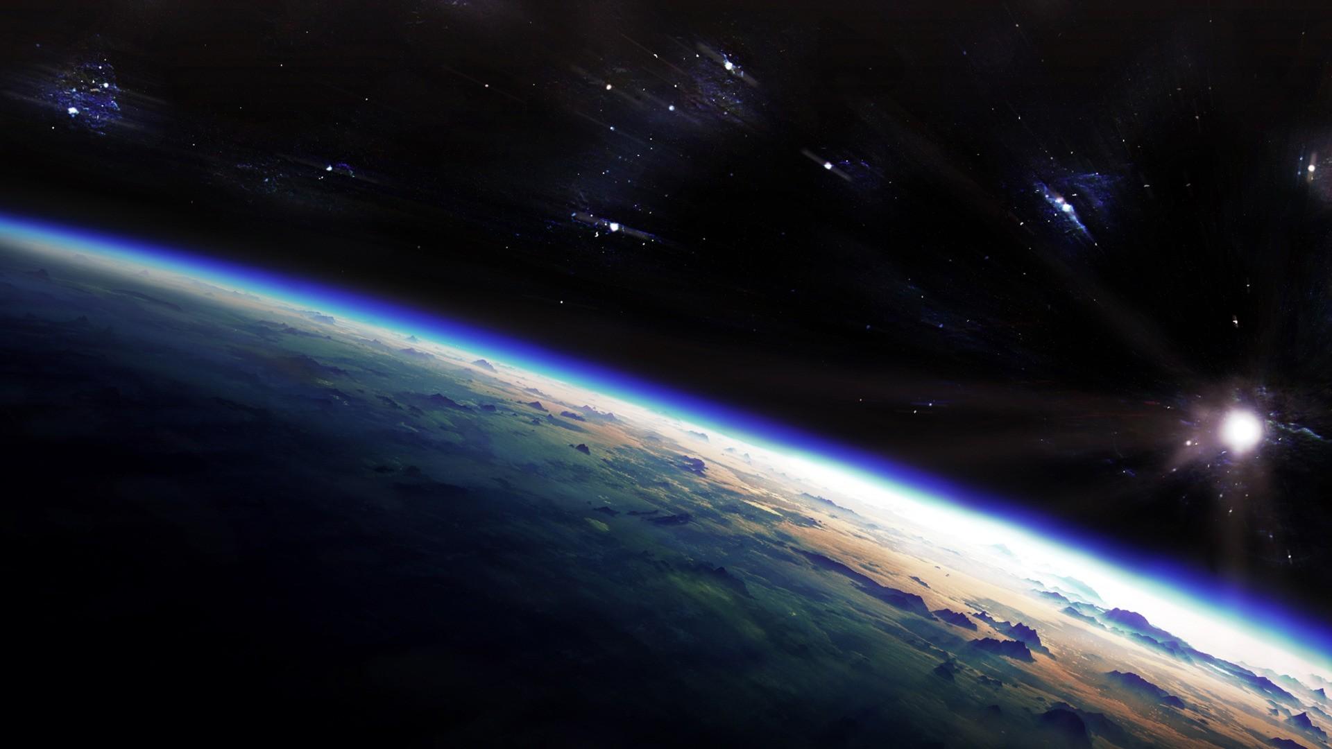 Planet surface wallpaper