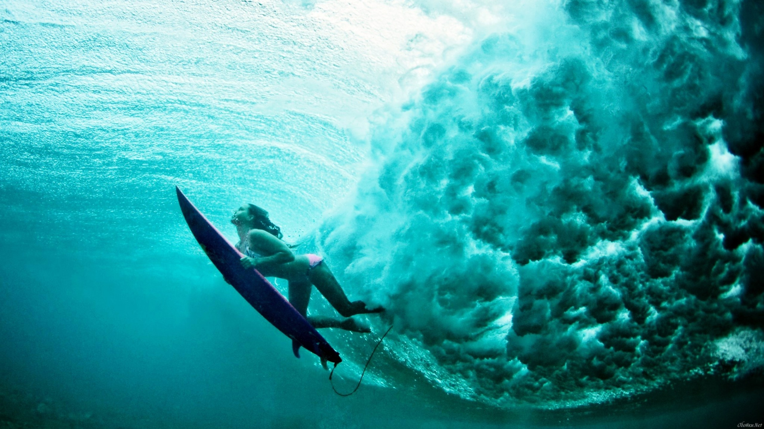 Surfer Underwater