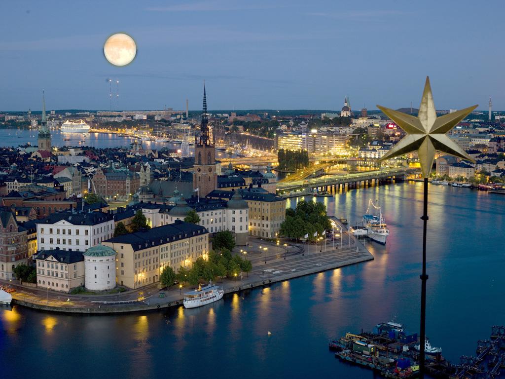 Stockholm i fullmŒnens sken