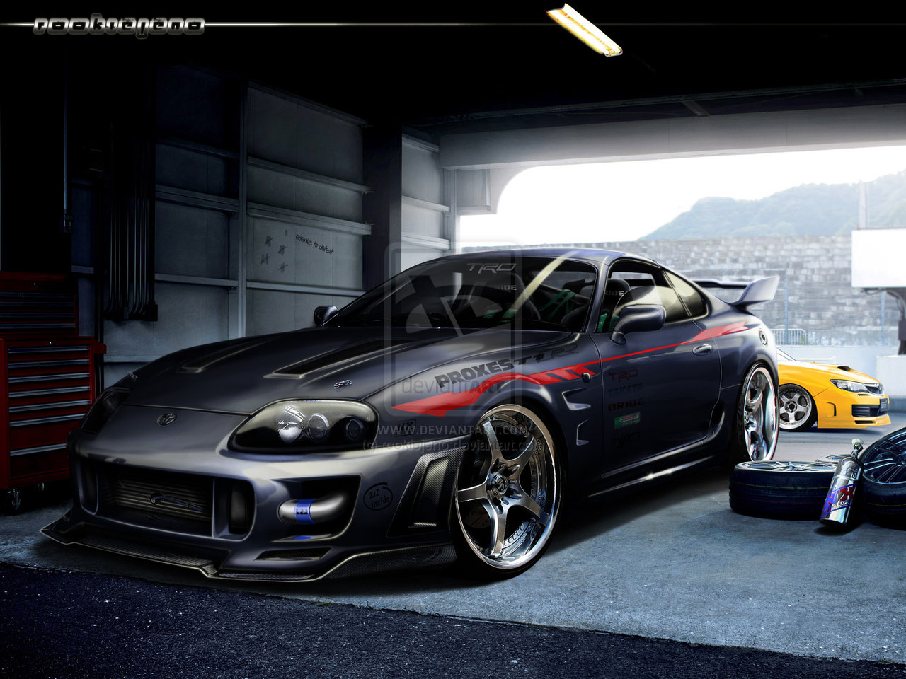 Sweet Toyota Supra Wallpaper