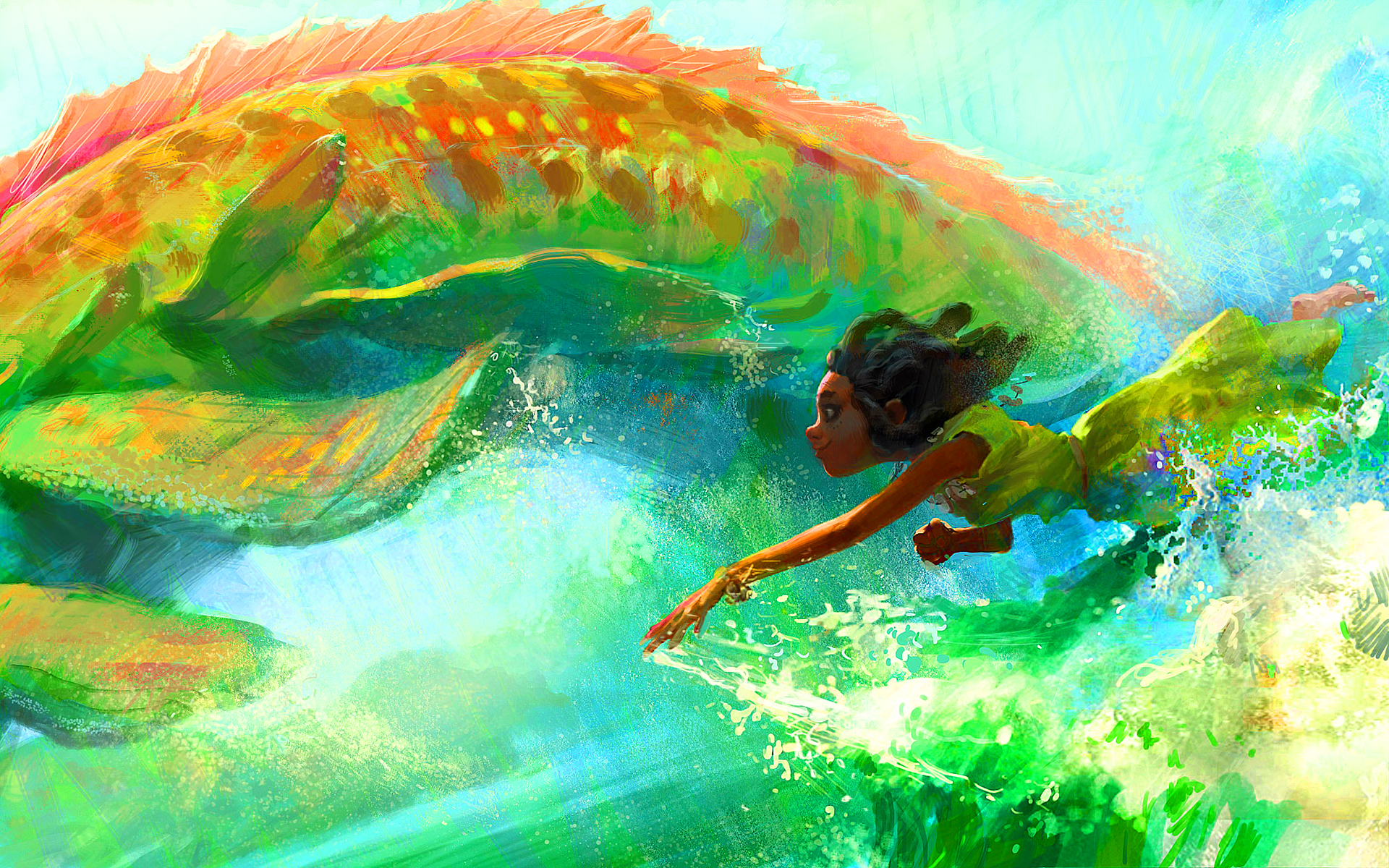 Swimming together art
