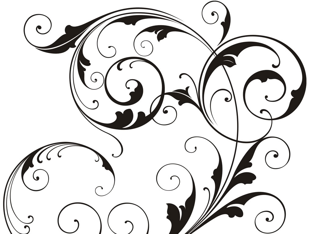 Black Swirl Design Stock Photo Tattoo