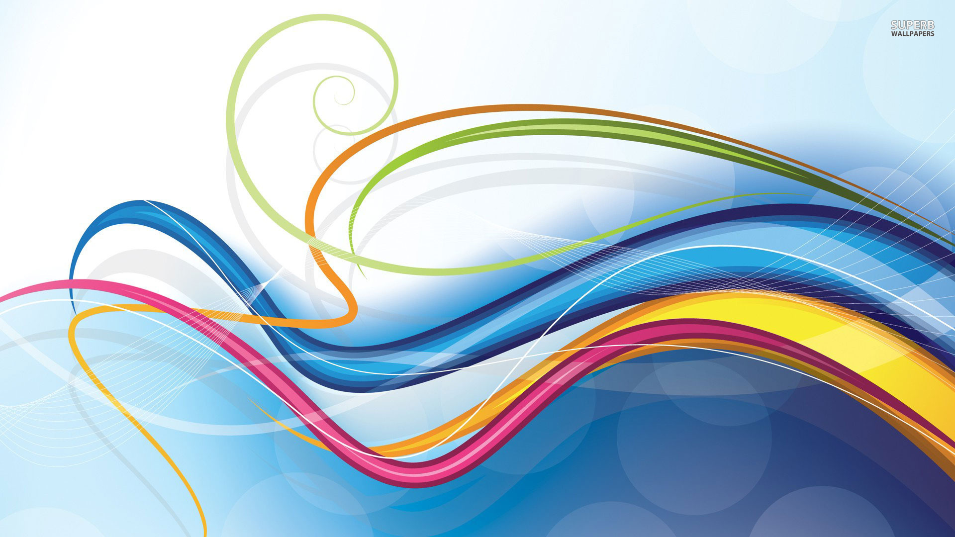 Colorful swirls wallpaper 1920x1080 jpg
