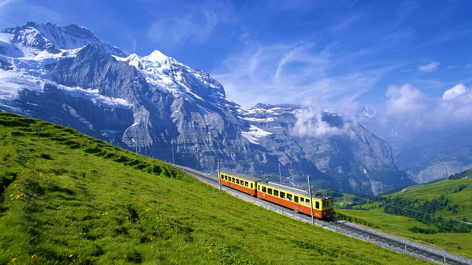 Mountains Switzerland Bernese Oberland High Resolution Wallpapers