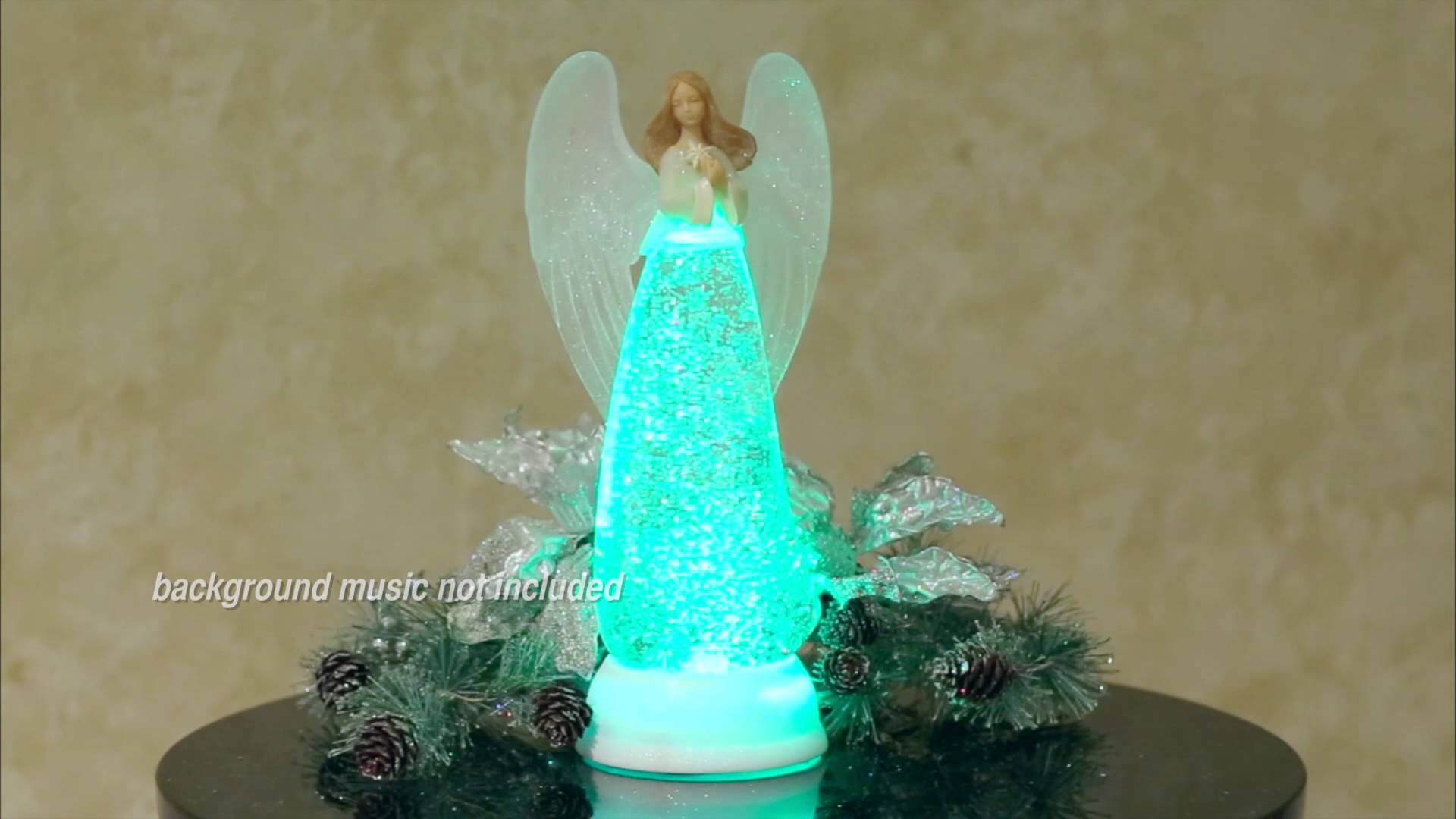 Angel Glitterdome Lighted Table Sculpture