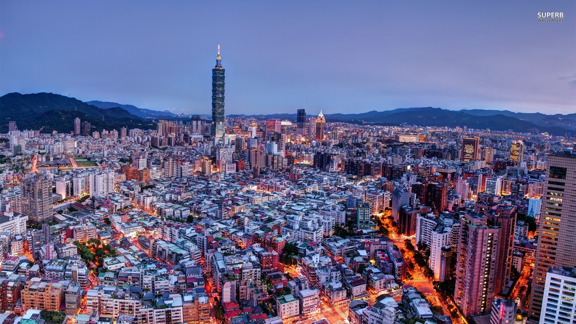 Taipei, Taiwan wallpaper 1920x1080