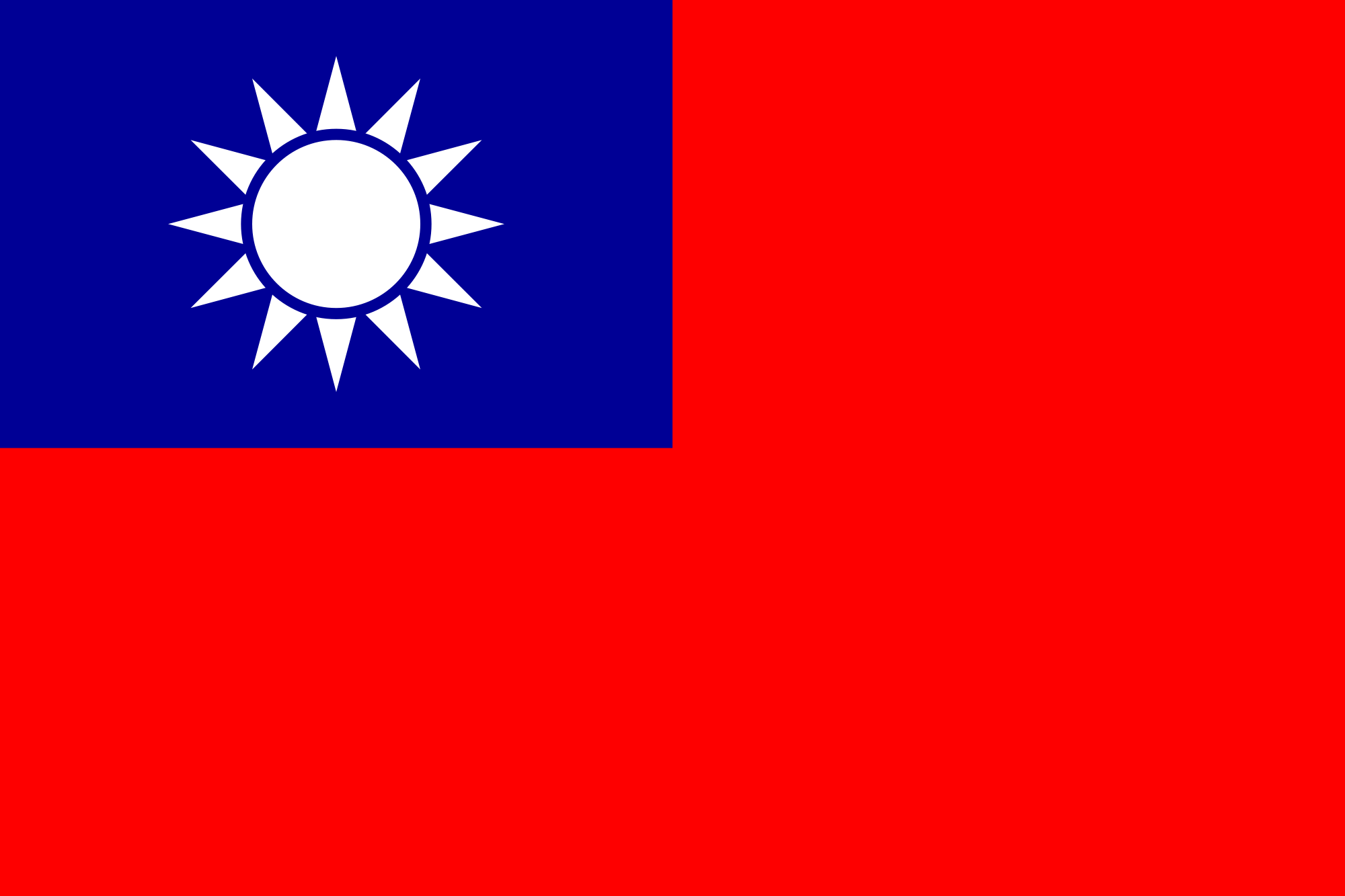 File:Flag of the Taiwan.png