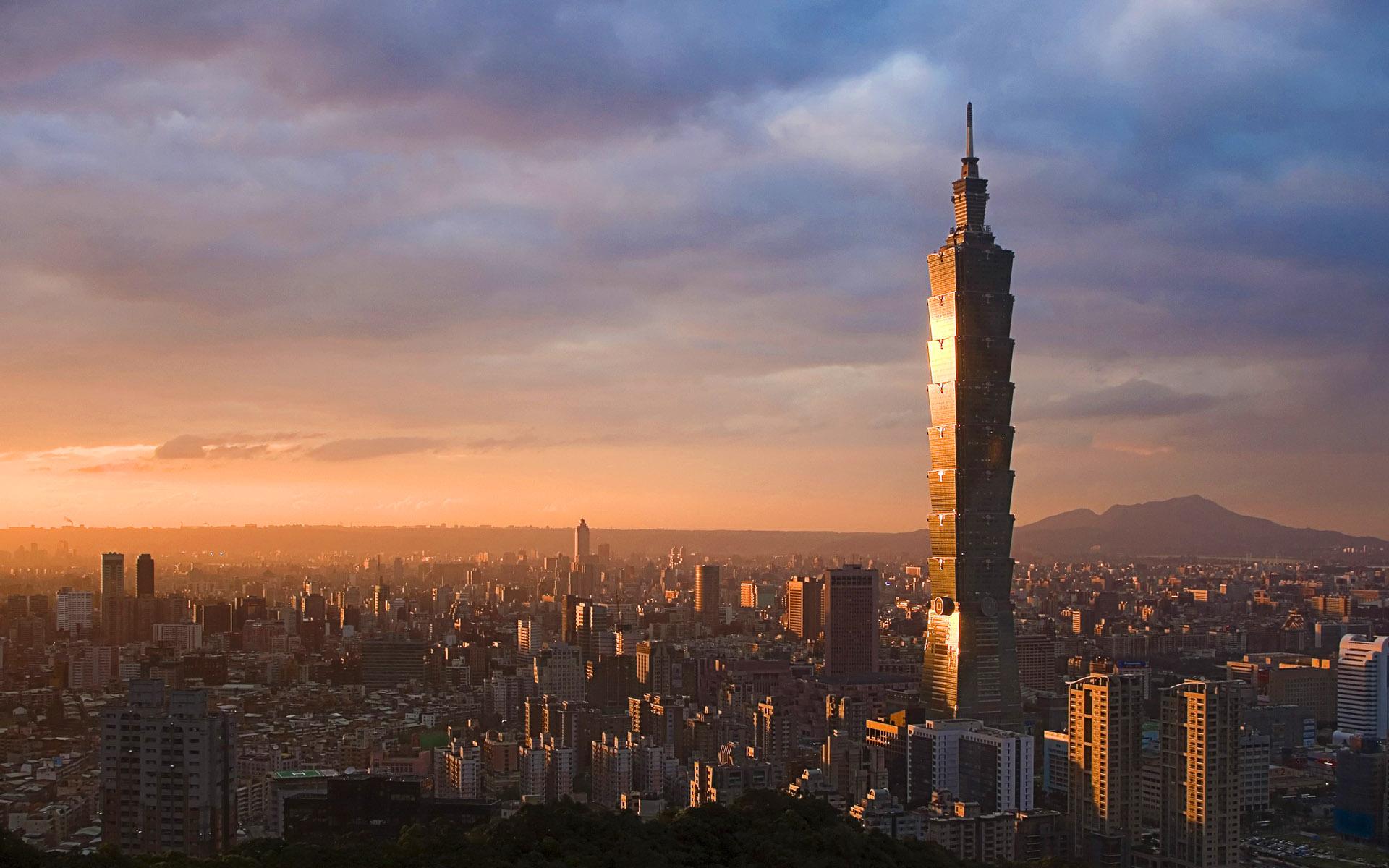 Tower skyscraper Taipei 101