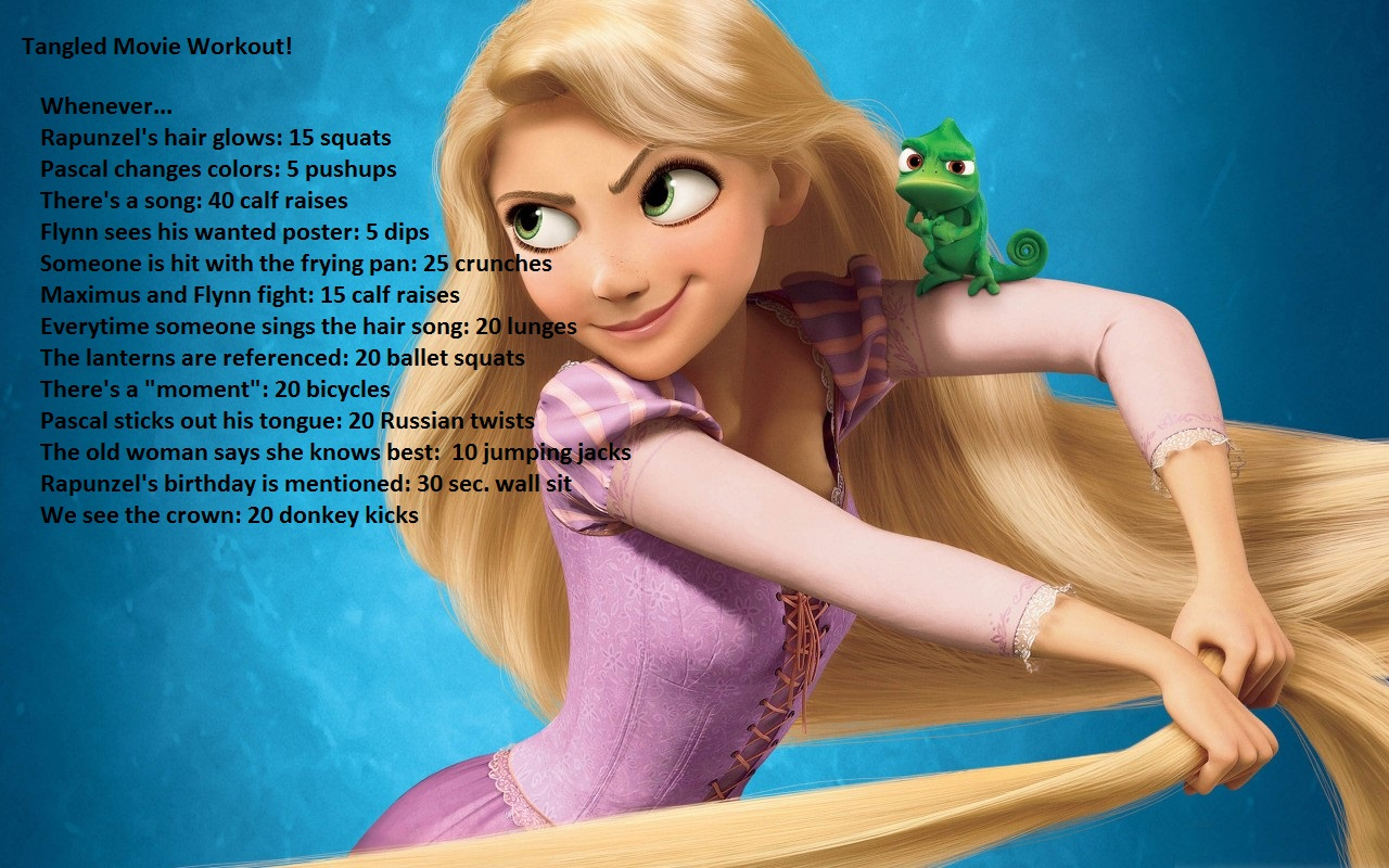 Tangled movie workout! This is one of our favorite ones! So enjoy and get