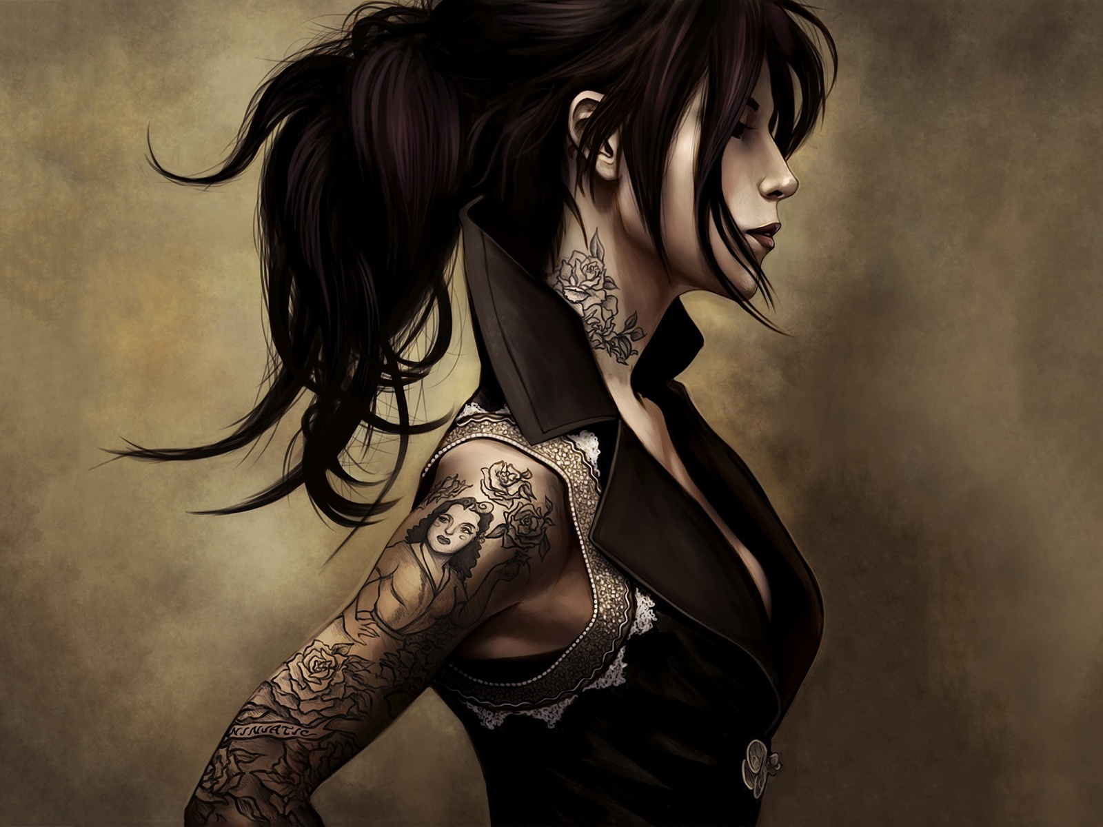 Tattoo girl art