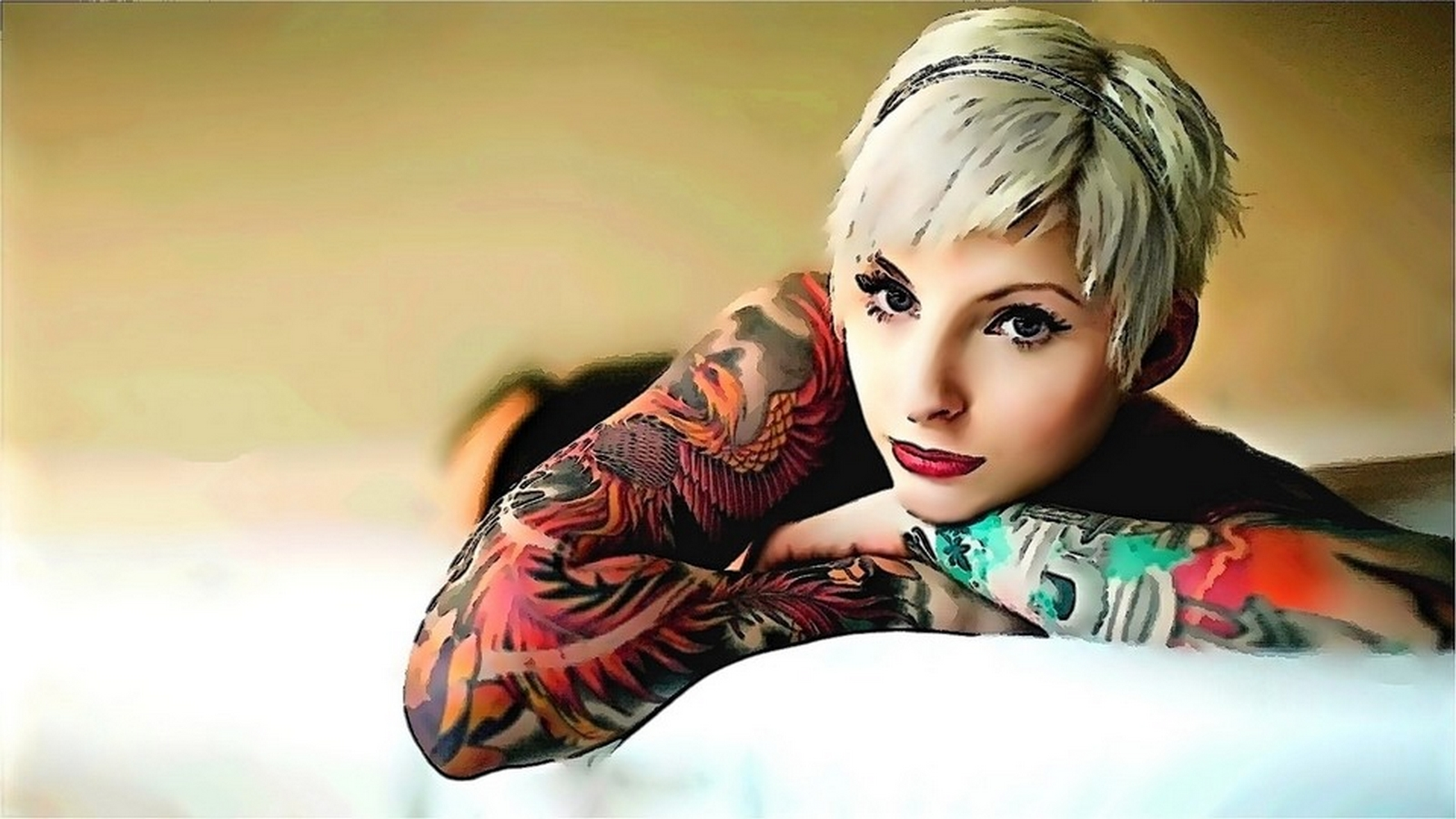 Tattoo Model Wallpaper