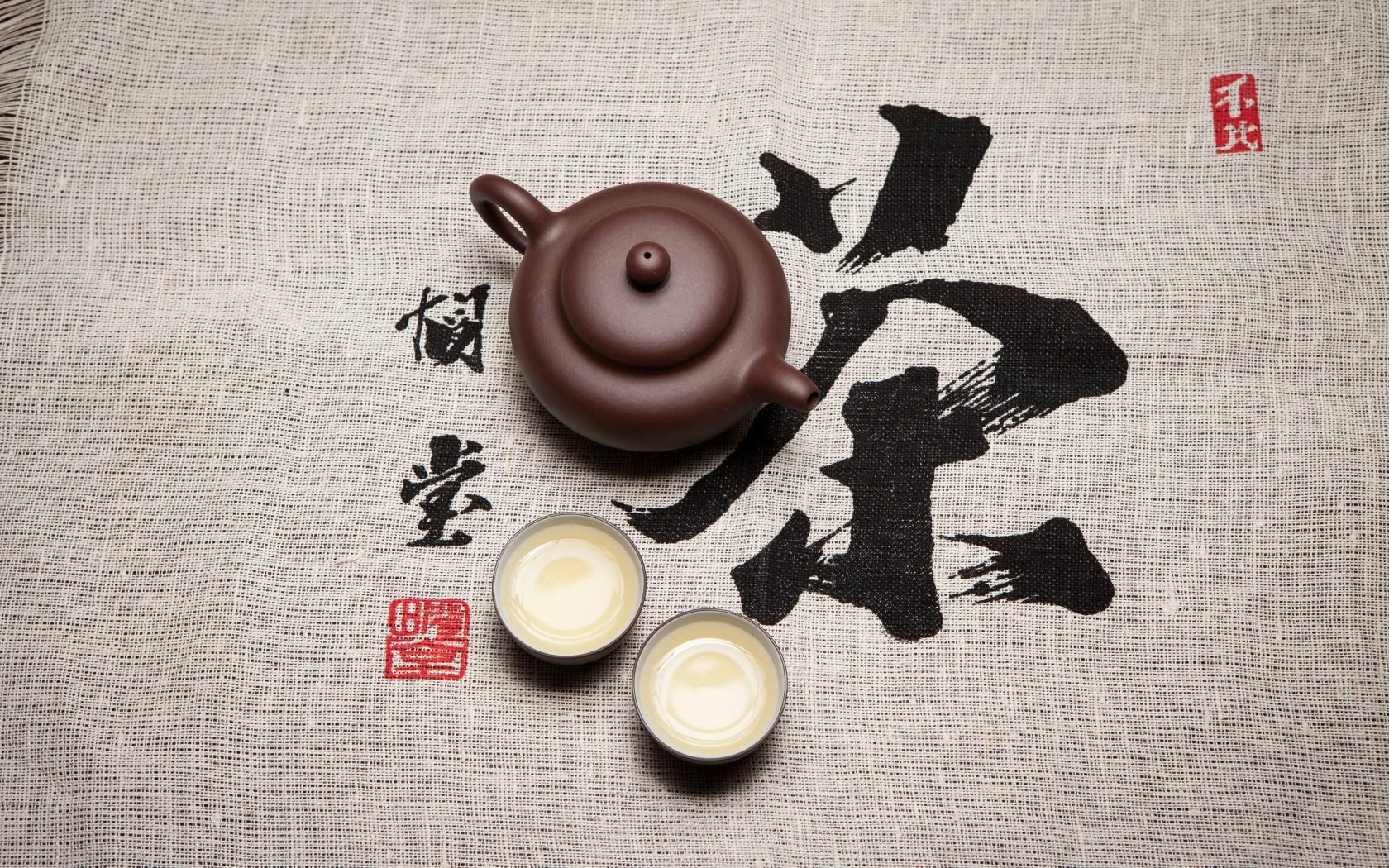 Tea Bowls Characters Cloth