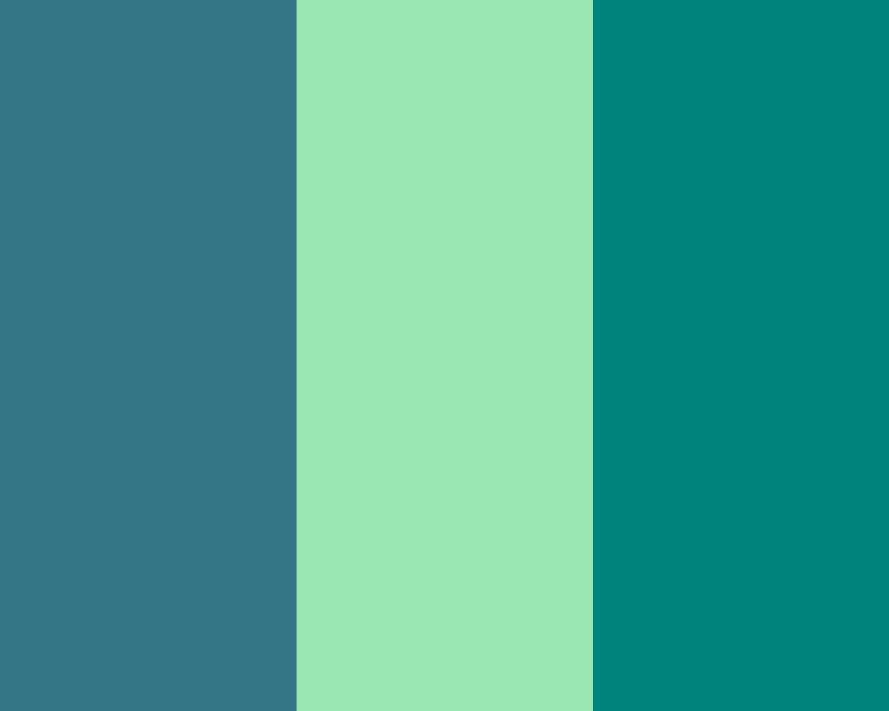 1280x1024 Teal Blue, Teal Deer and Teal Green Three Color Background
