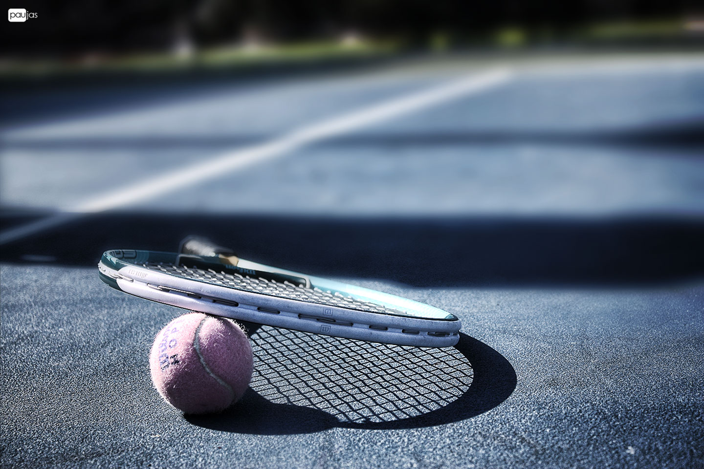 Pink Tennis Ball And Racquet Wallpaper