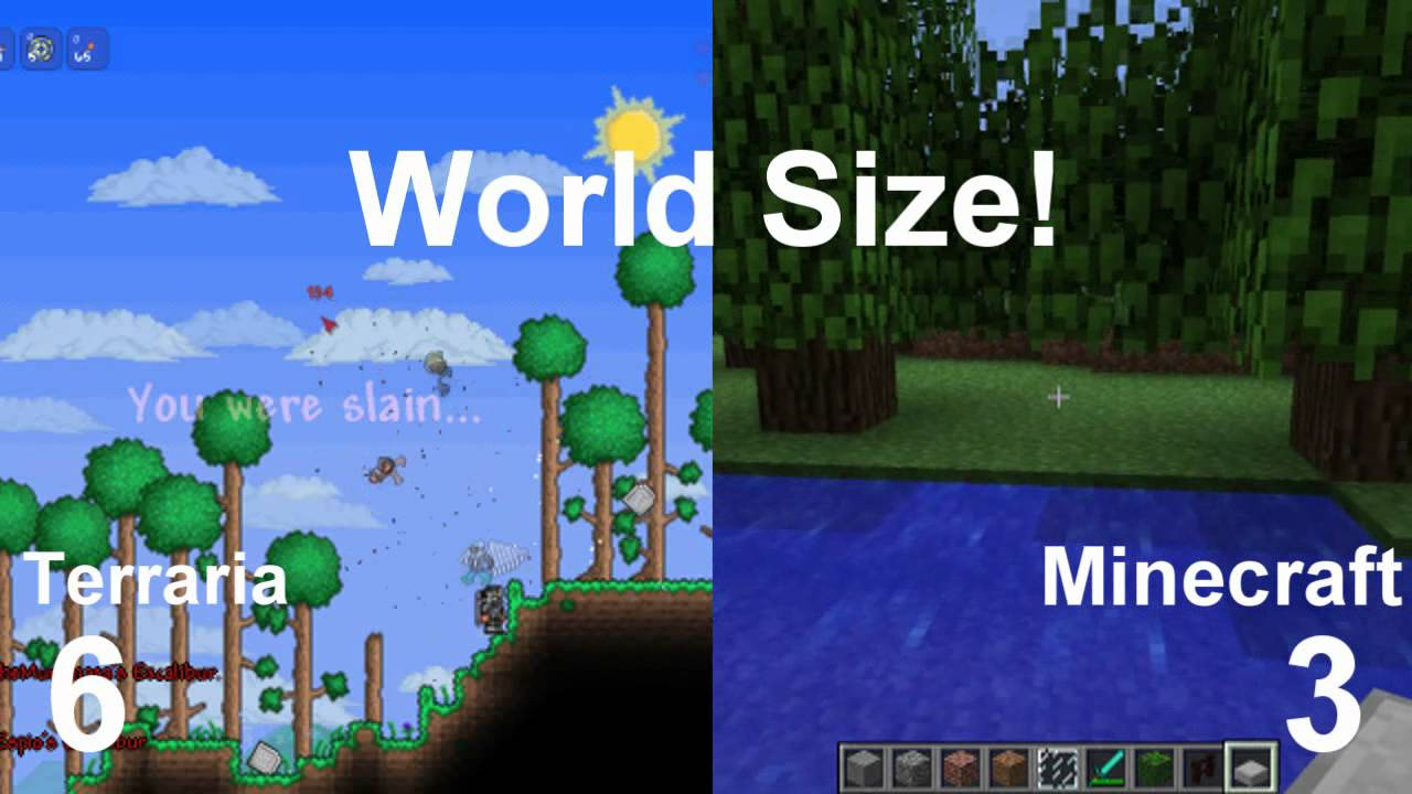 Minecraft vs Terraria