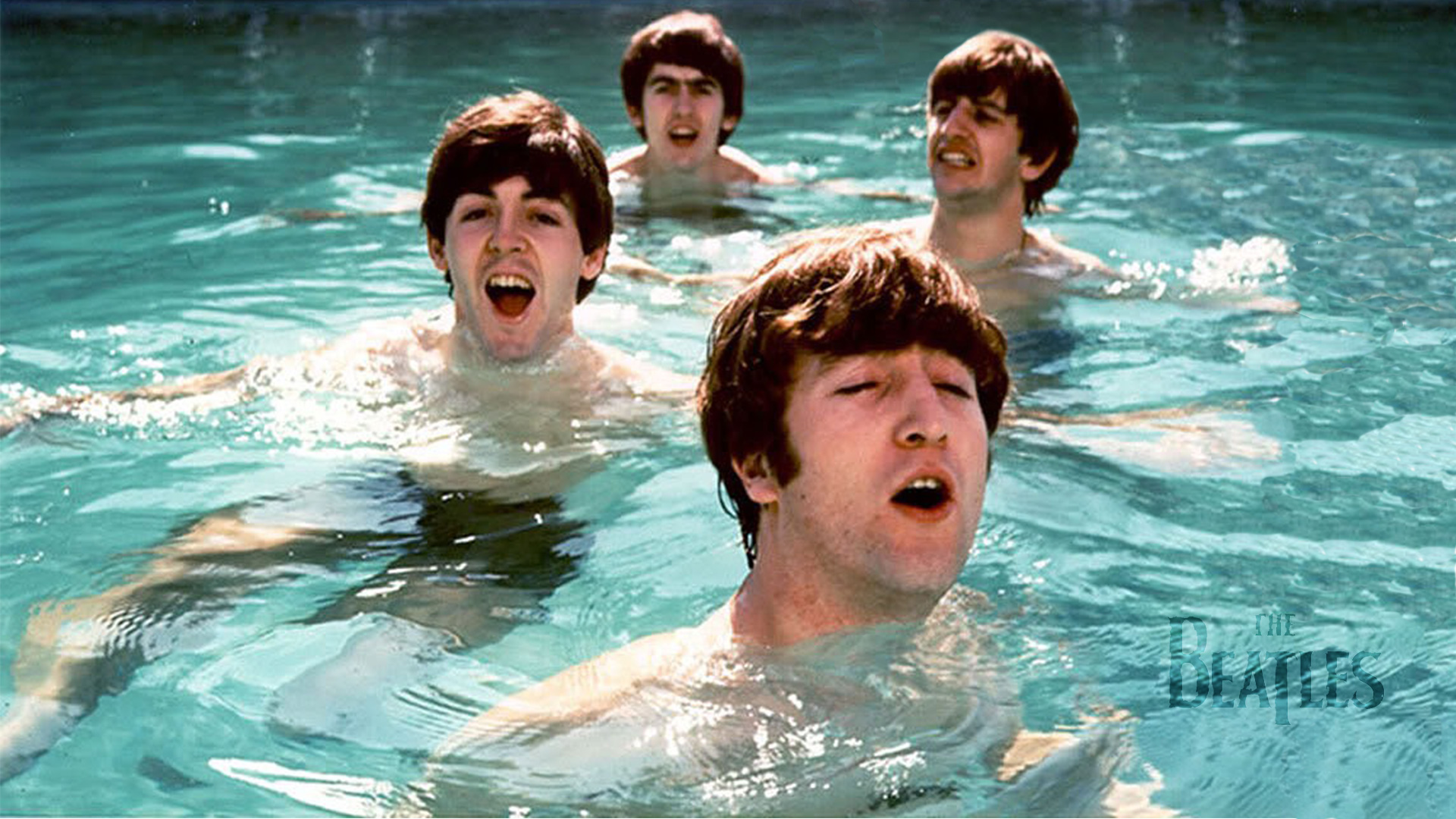 The Beatles Wallpaper Pool