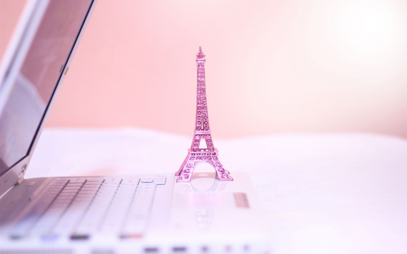 The Eiffel Tower Statue Pink Notebook