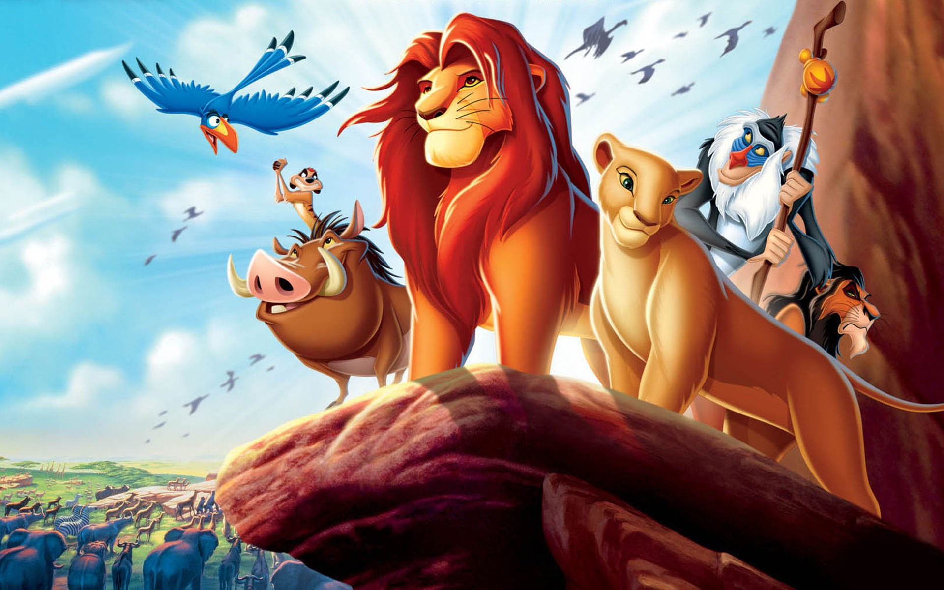 The Lion King Simba Nala Monkey Timon Pumbaa Cartoon