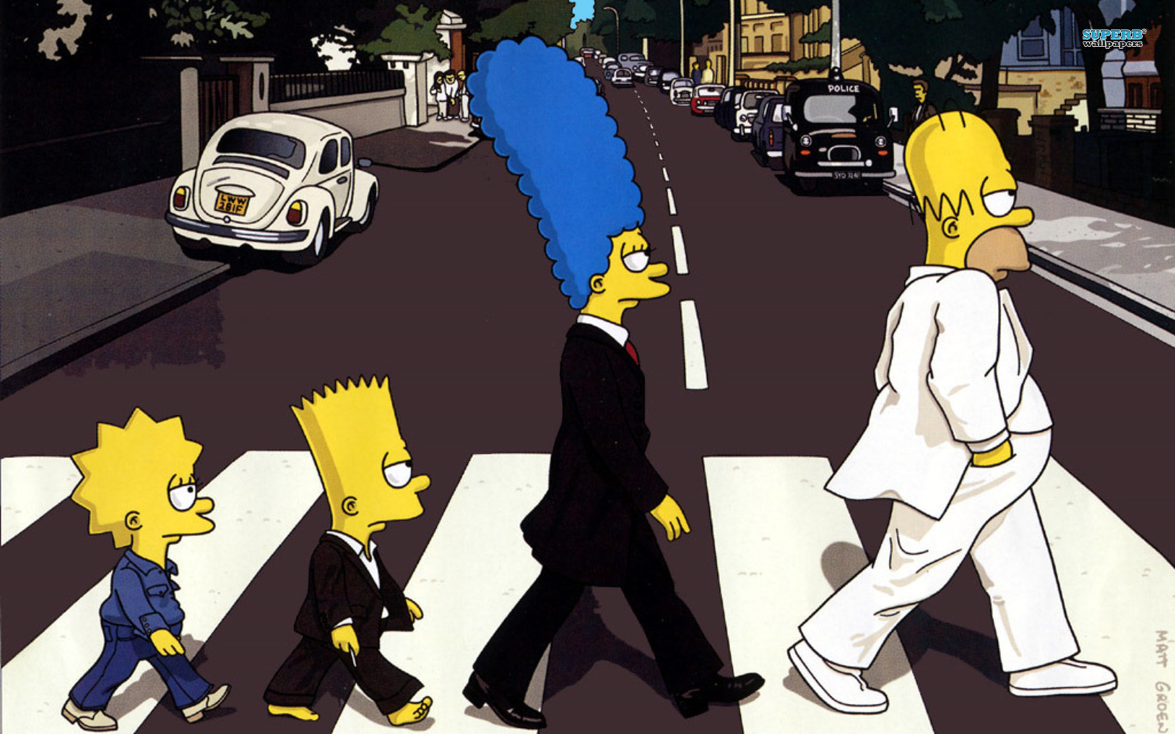 The Simpsons - Beatles wallpaper 1680x1050