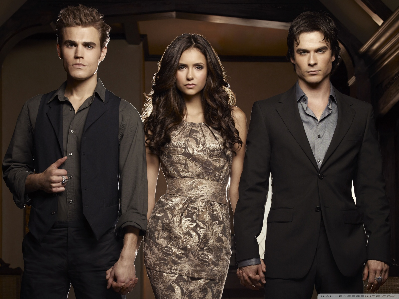 The Vampire Diaries Nina Dobrev Paul Wesley Ian Somerhalder