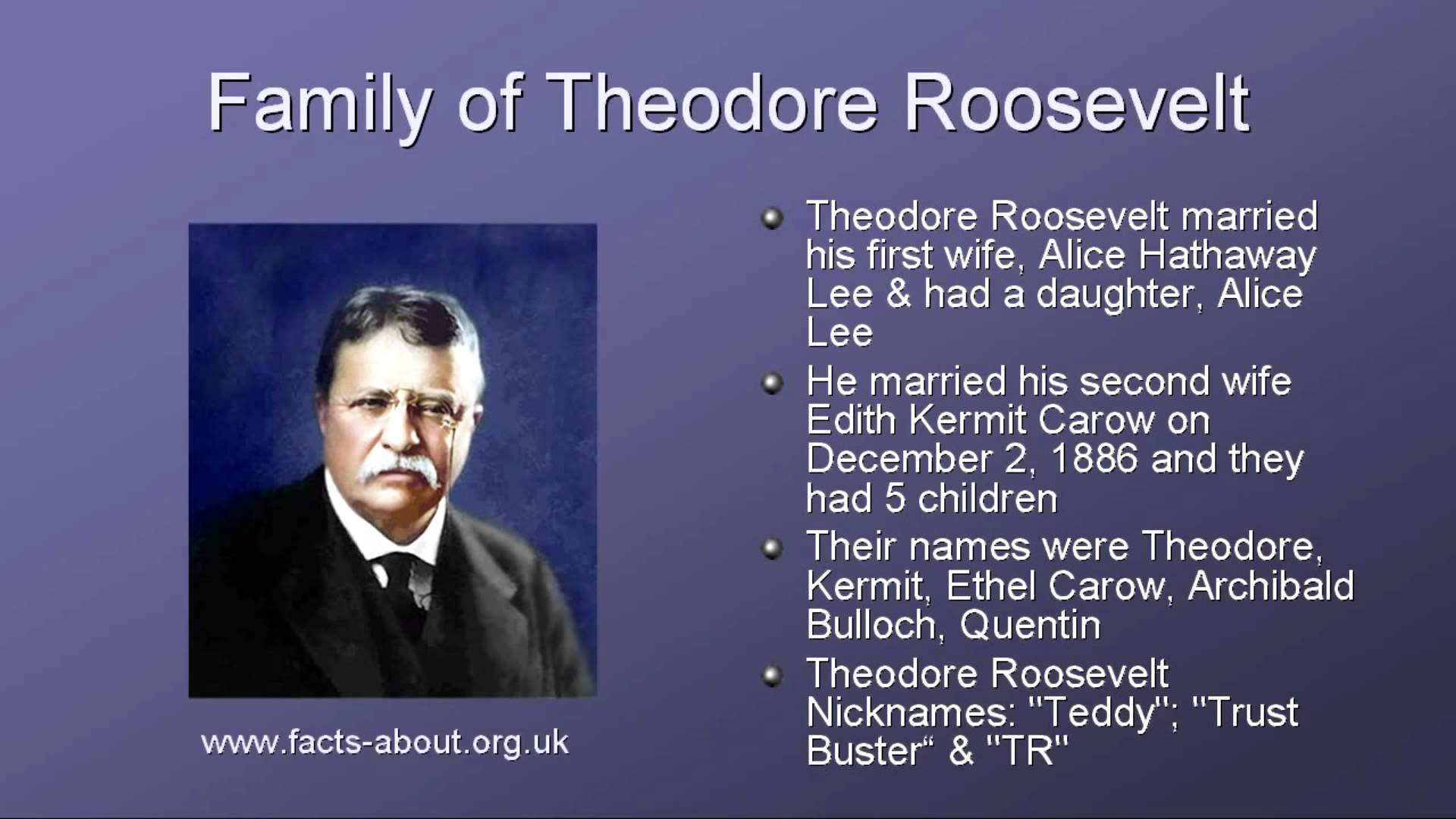 President Theodore Roosevelt Biography