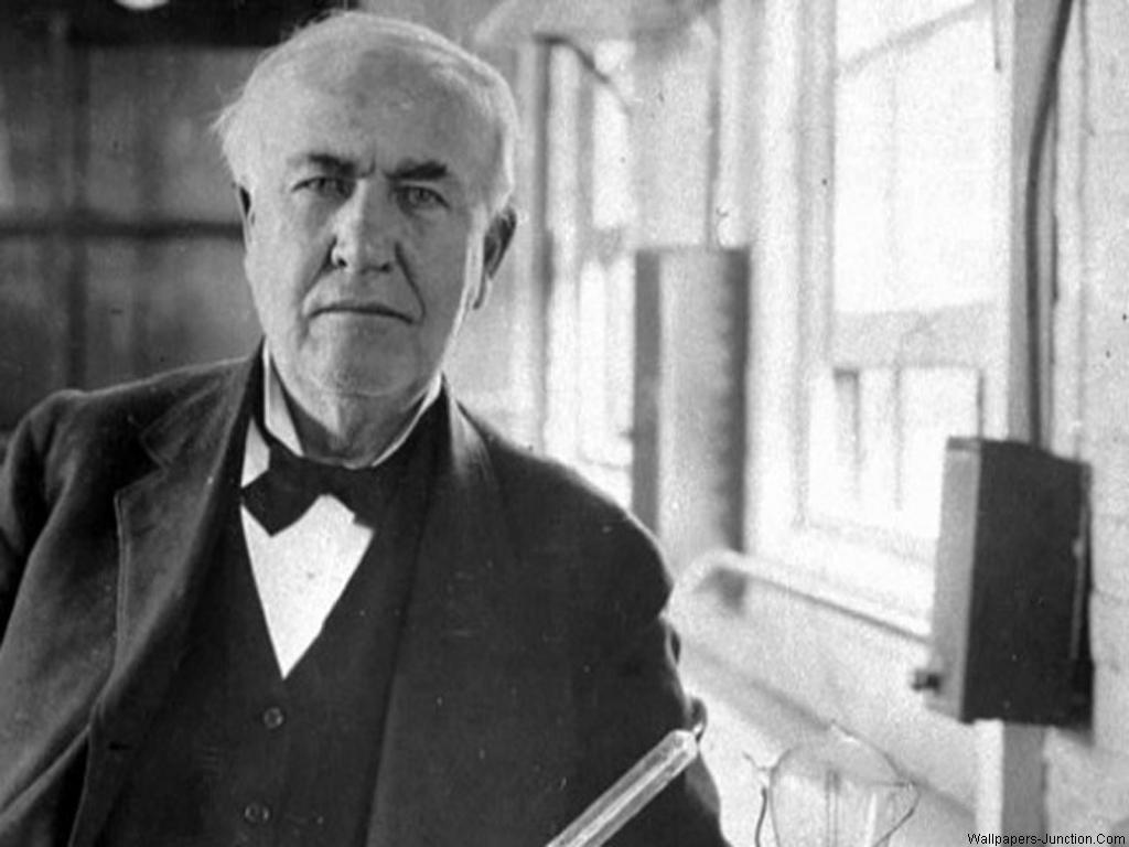 Thomas Edison Wallpaper: White Wallpapers Hd Wallpaper At and Thomas Edison Black 1024x768px