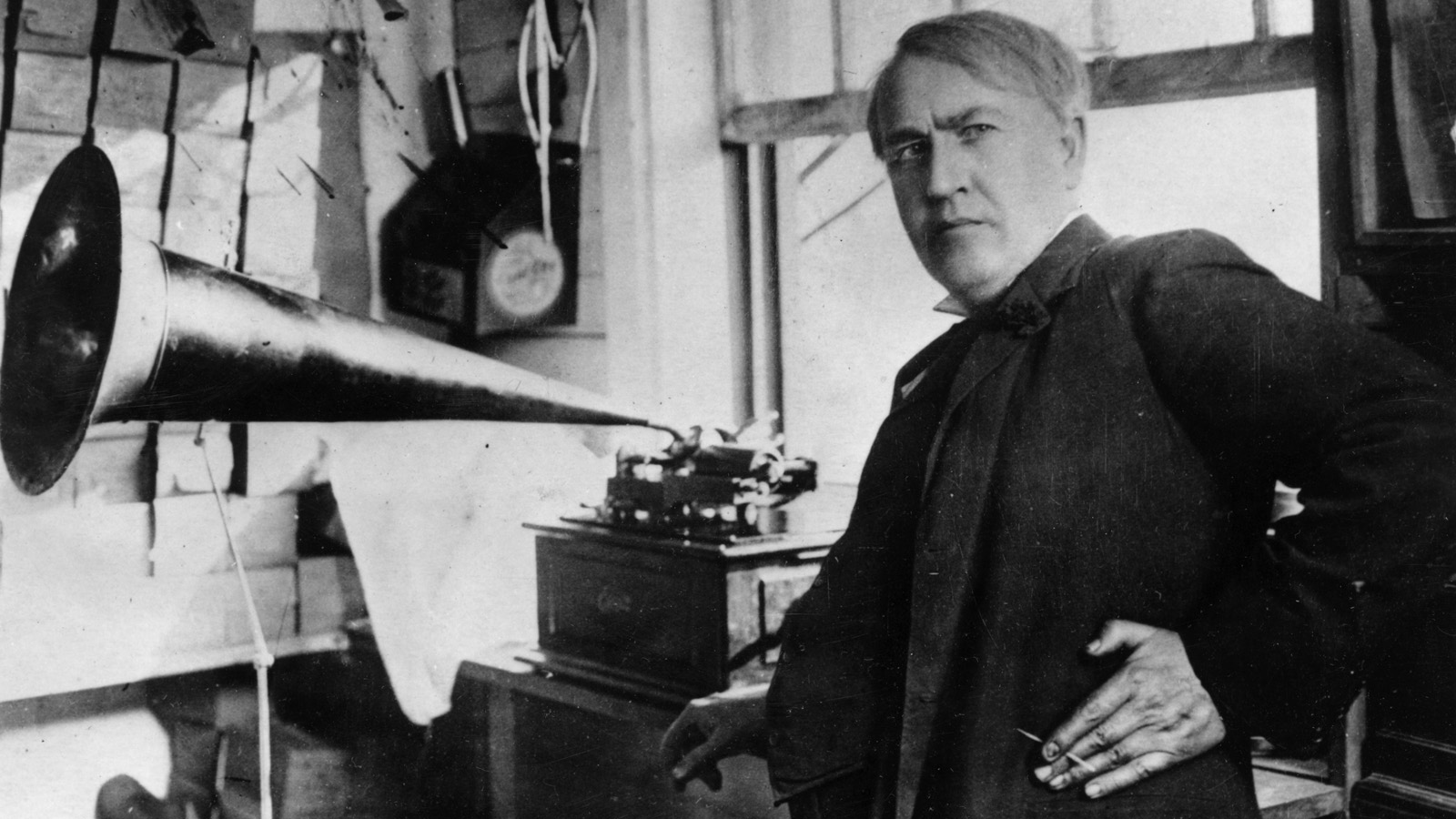 About 140 years before everyone became a DJ, Thomas Edison accidentally invented the phonograph. Photo: Keystone/Getty Images
