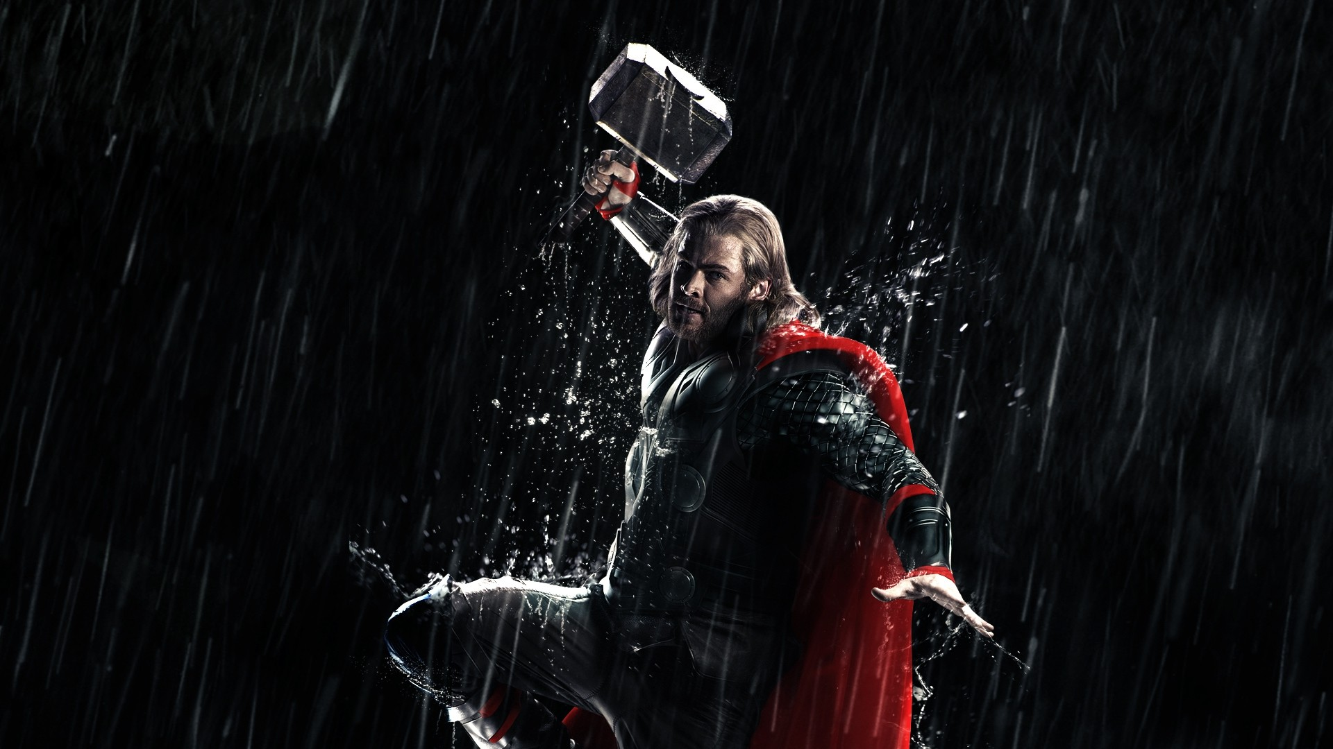 Thor has it all. Wonderful action moments, which are visually stunning. Like when Thor leaps from the balcony, summons his hammer with a little mid-air ...