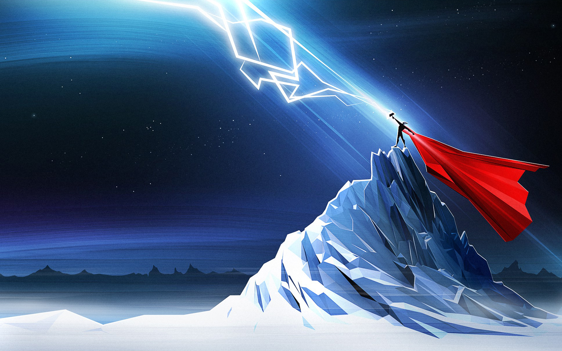 Thor lightning art