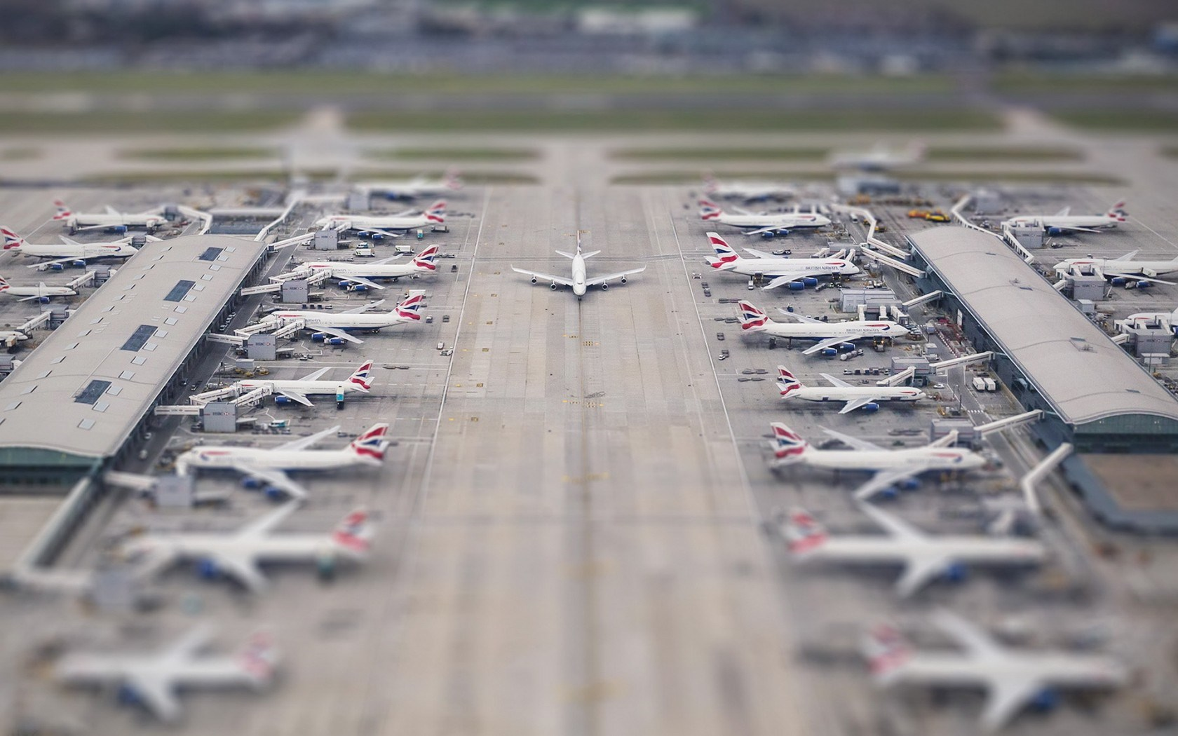 Tilt Shift Airport Wallpaper