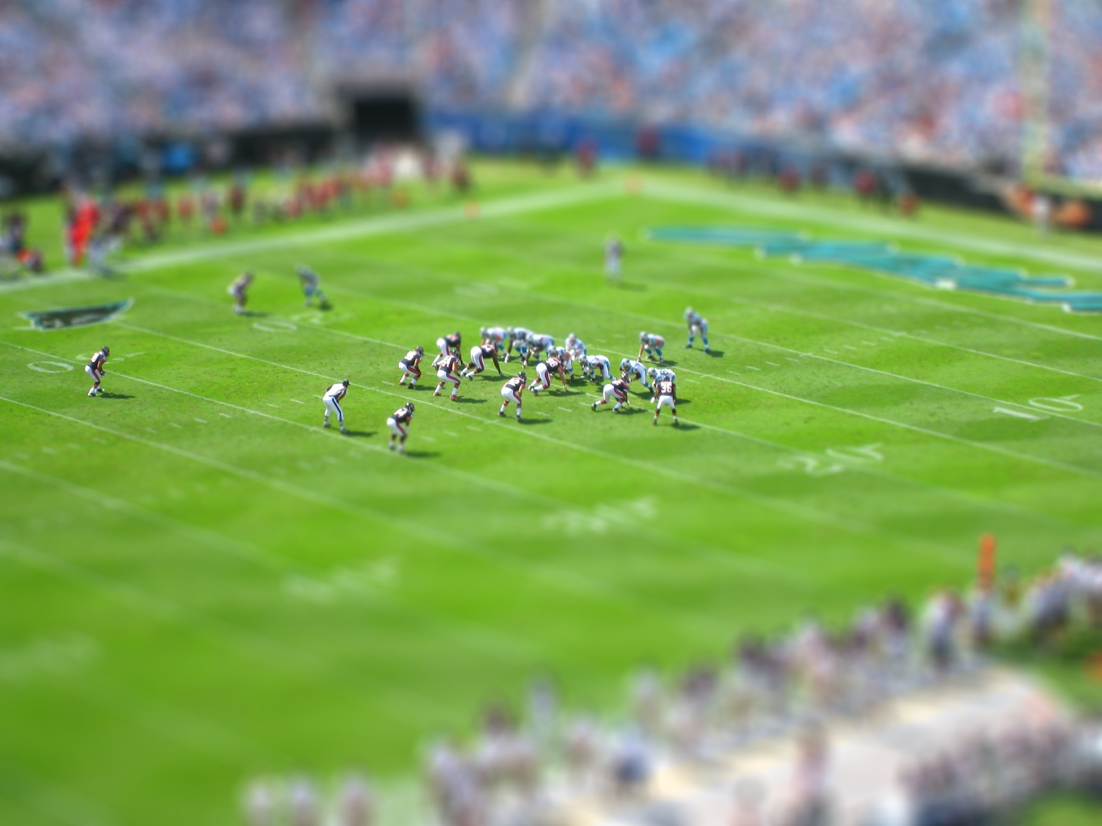 American Football tilt-shift