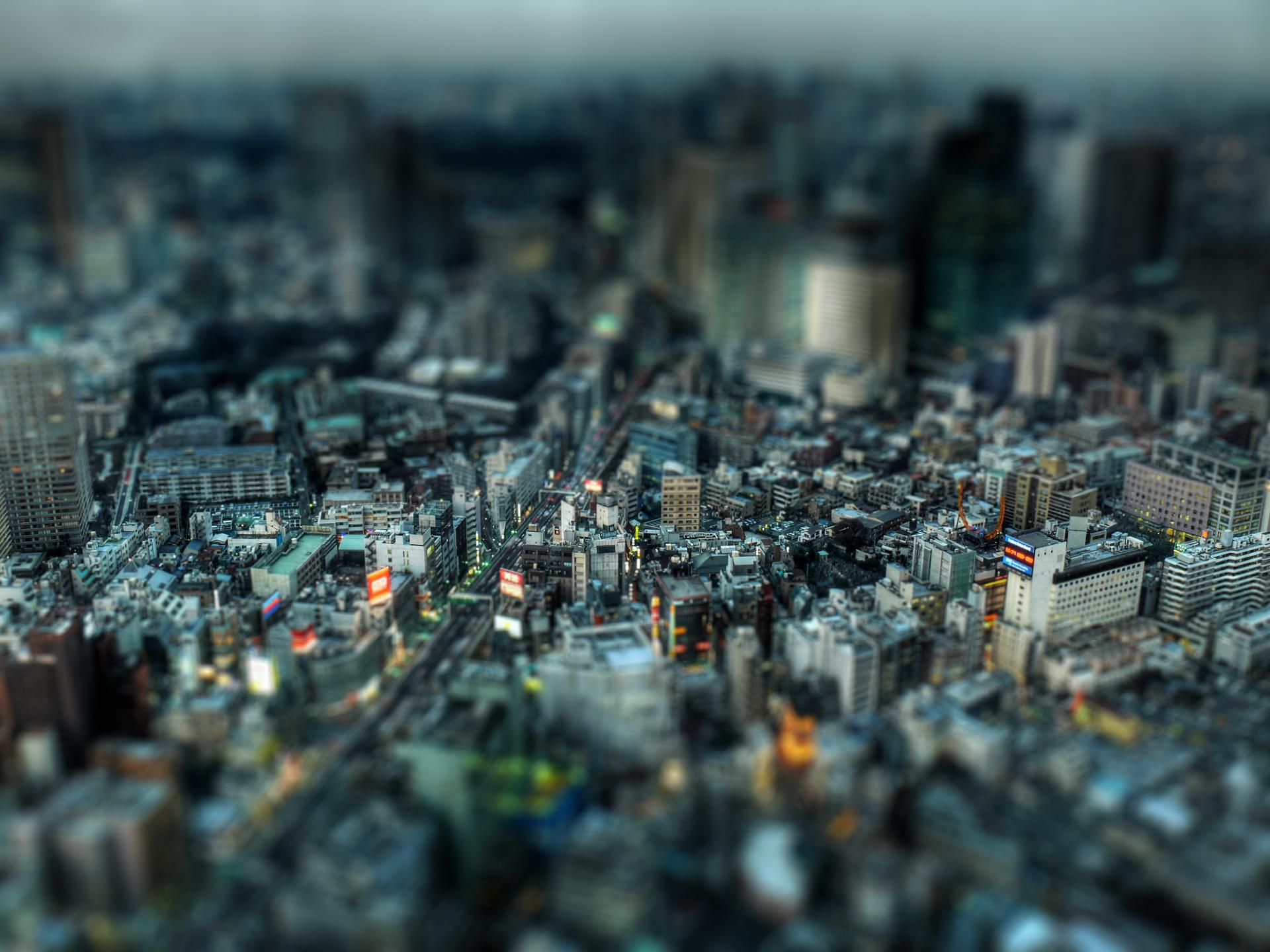 tilt-shift, cities, wow