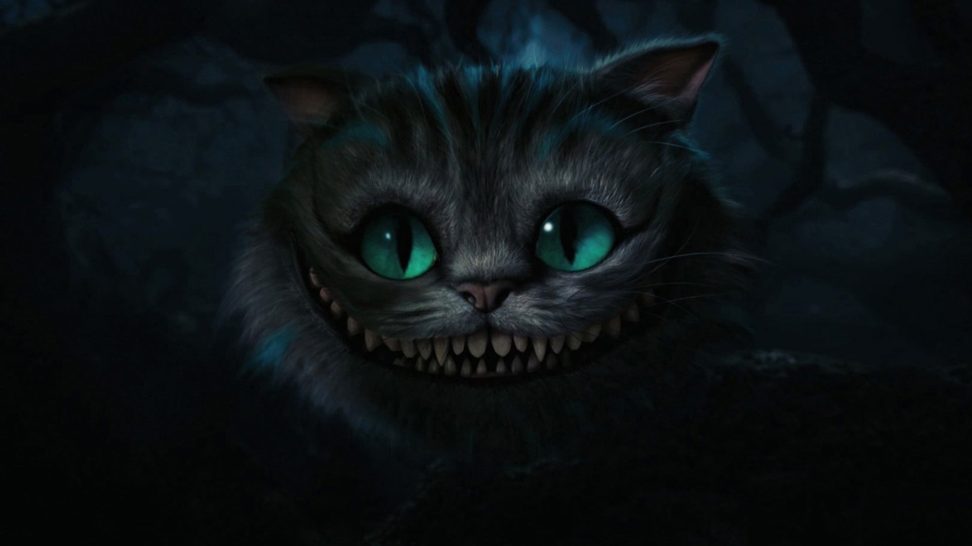 Alice in Wonderland Cheshire Cat Tim Burton artwo 1920x1080
