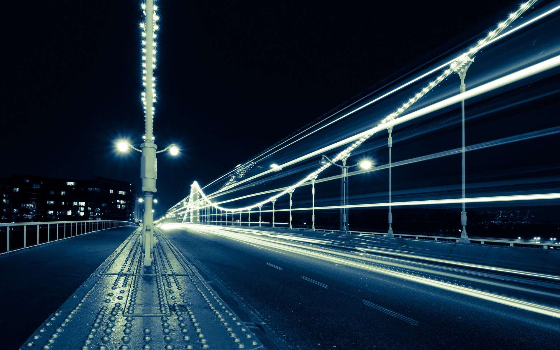 Photography - Time-lapse Bridge Traffic Night Light Architecture Wallpaper