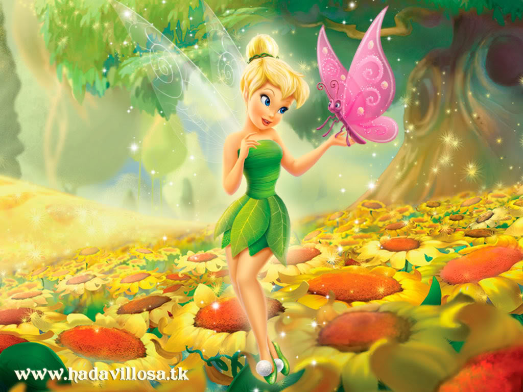 Wallpaper - Tinker Bell - Sunflowers