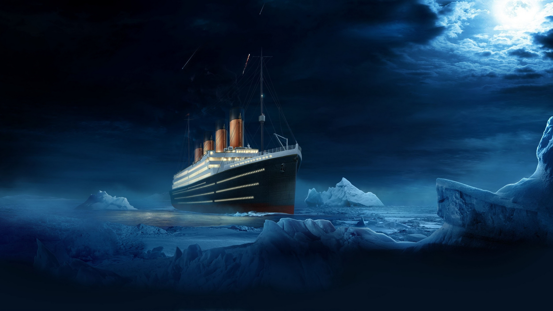 titanic ship high resolution wallpaper