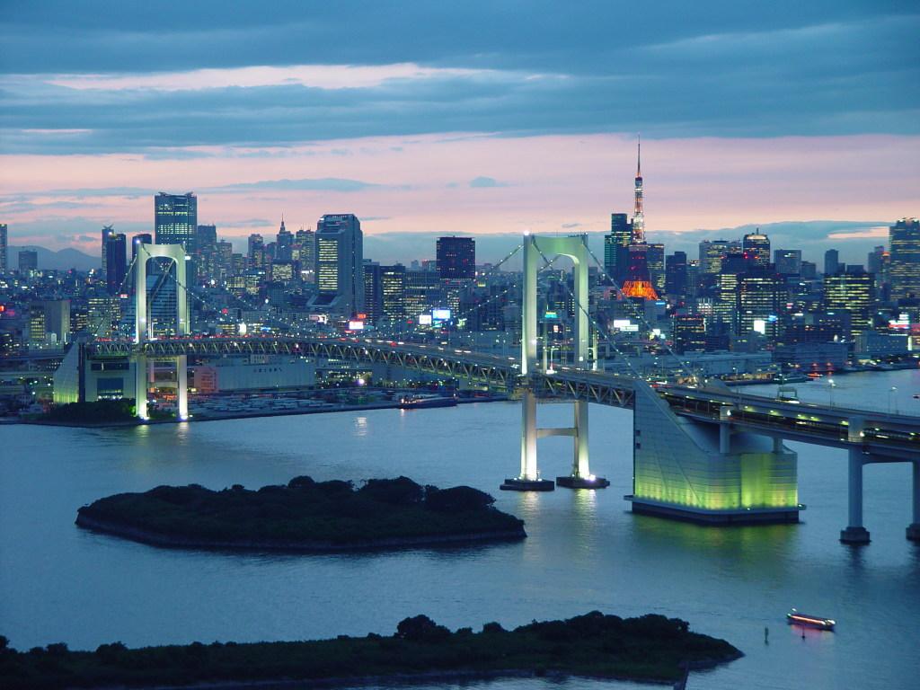 Tokyo Bay seen from Odaiba, Minato