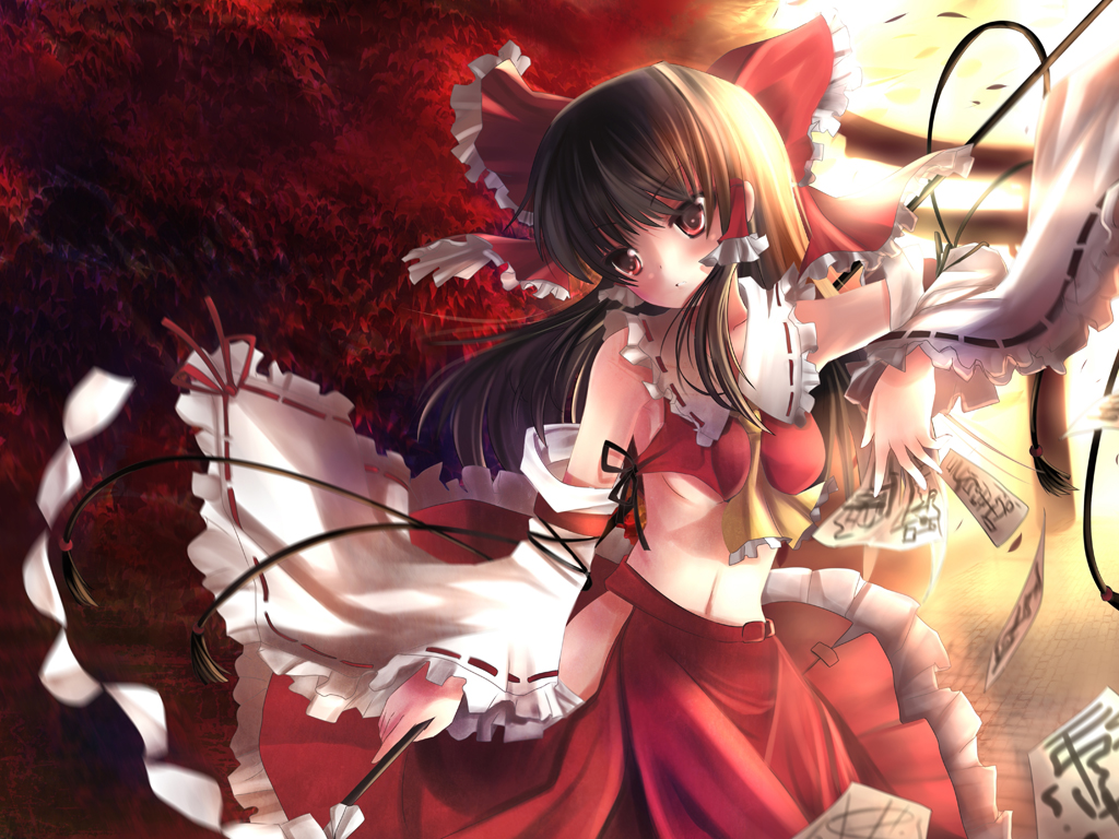 Tags: Anime, Xephonia, Touhou, Hakurei Reimu, Magic, Red