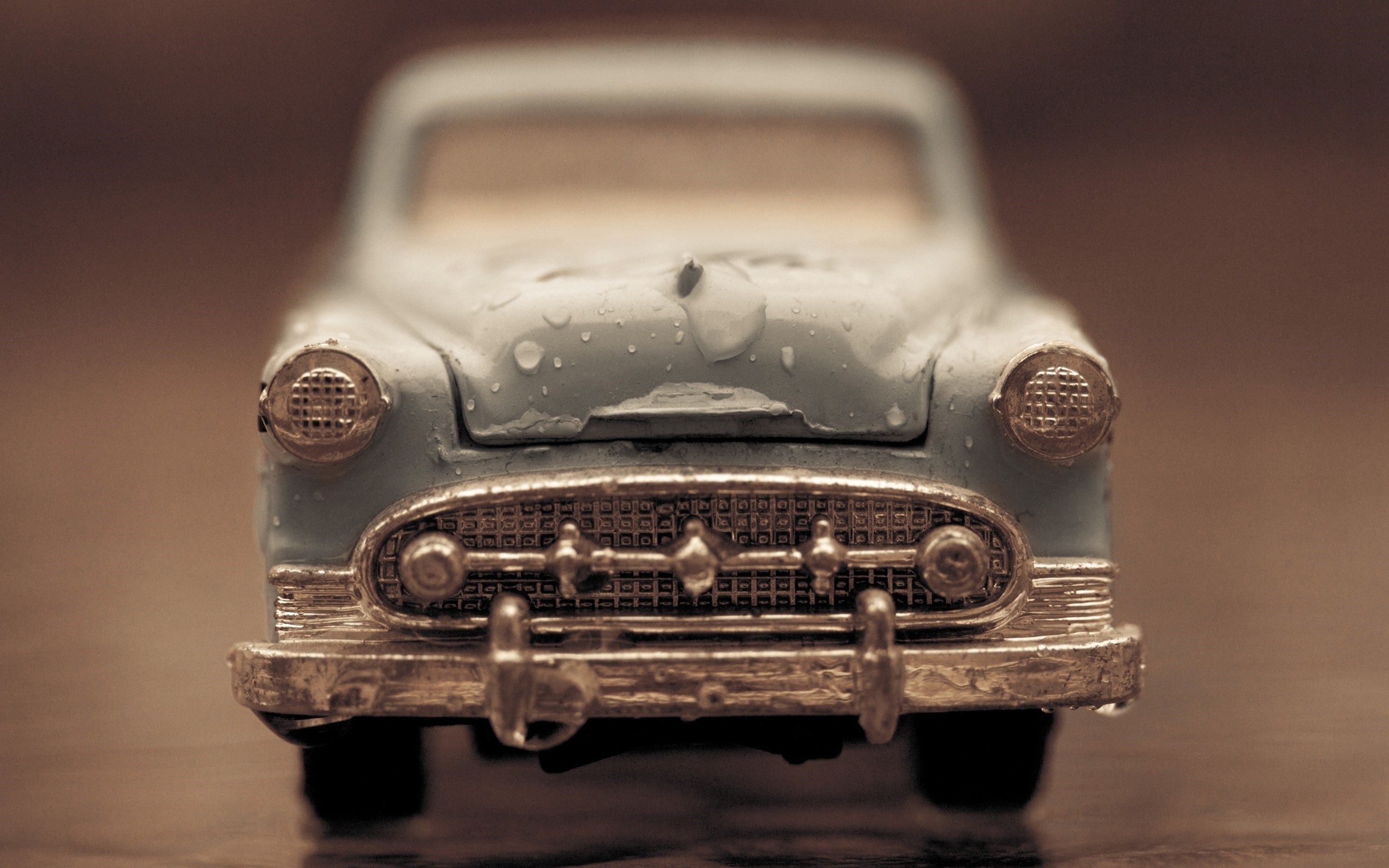 Toy Car Water Drops Macro